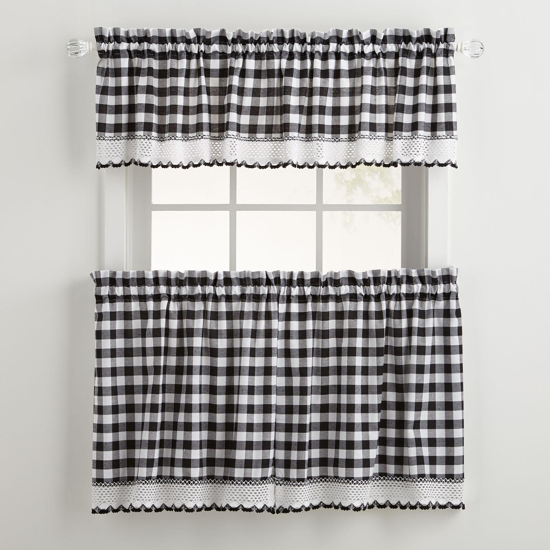 Brylane Home Kitchen: Buffalo Tier Curtain