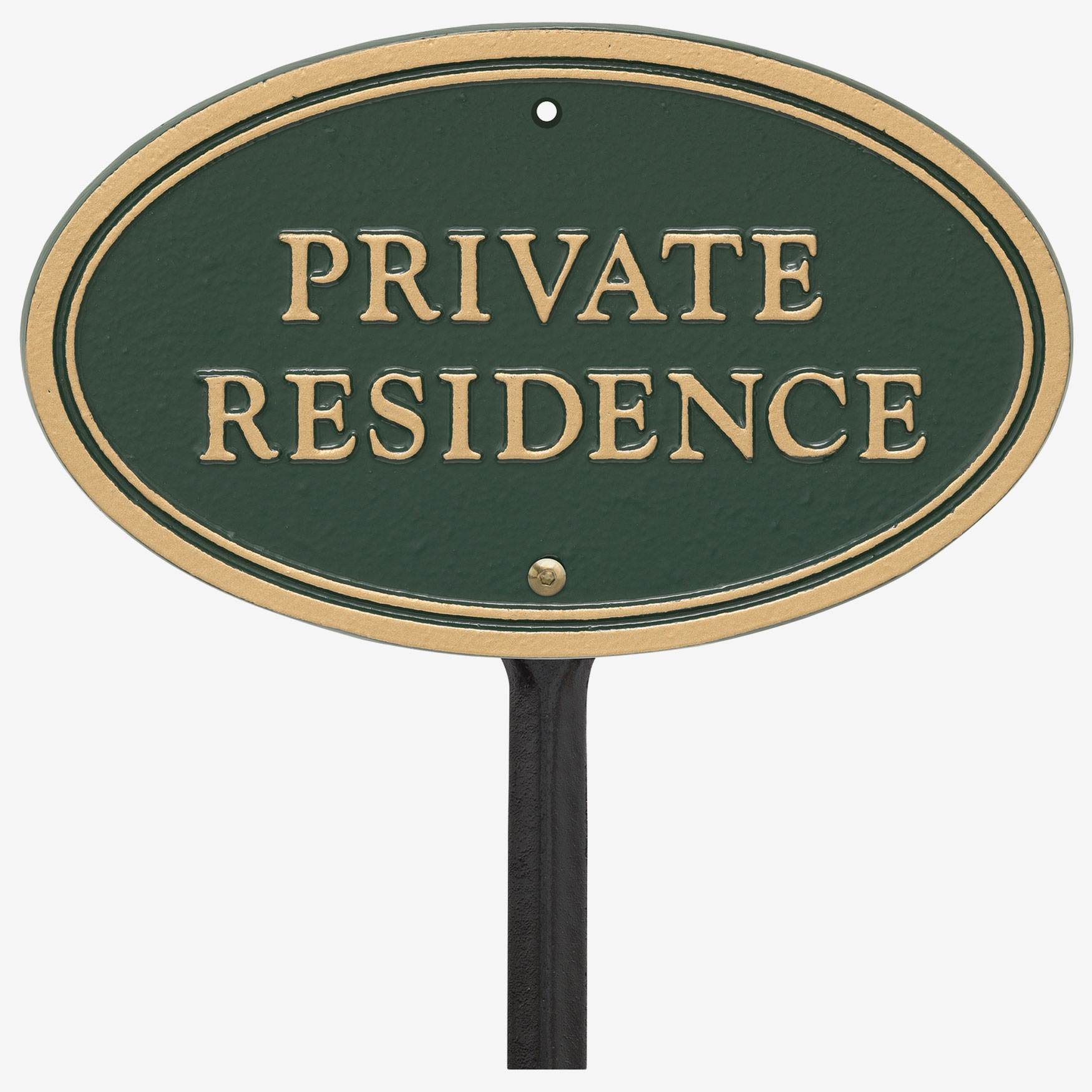 Private Residence Oval Wall/Lawn Statement Plaque,
