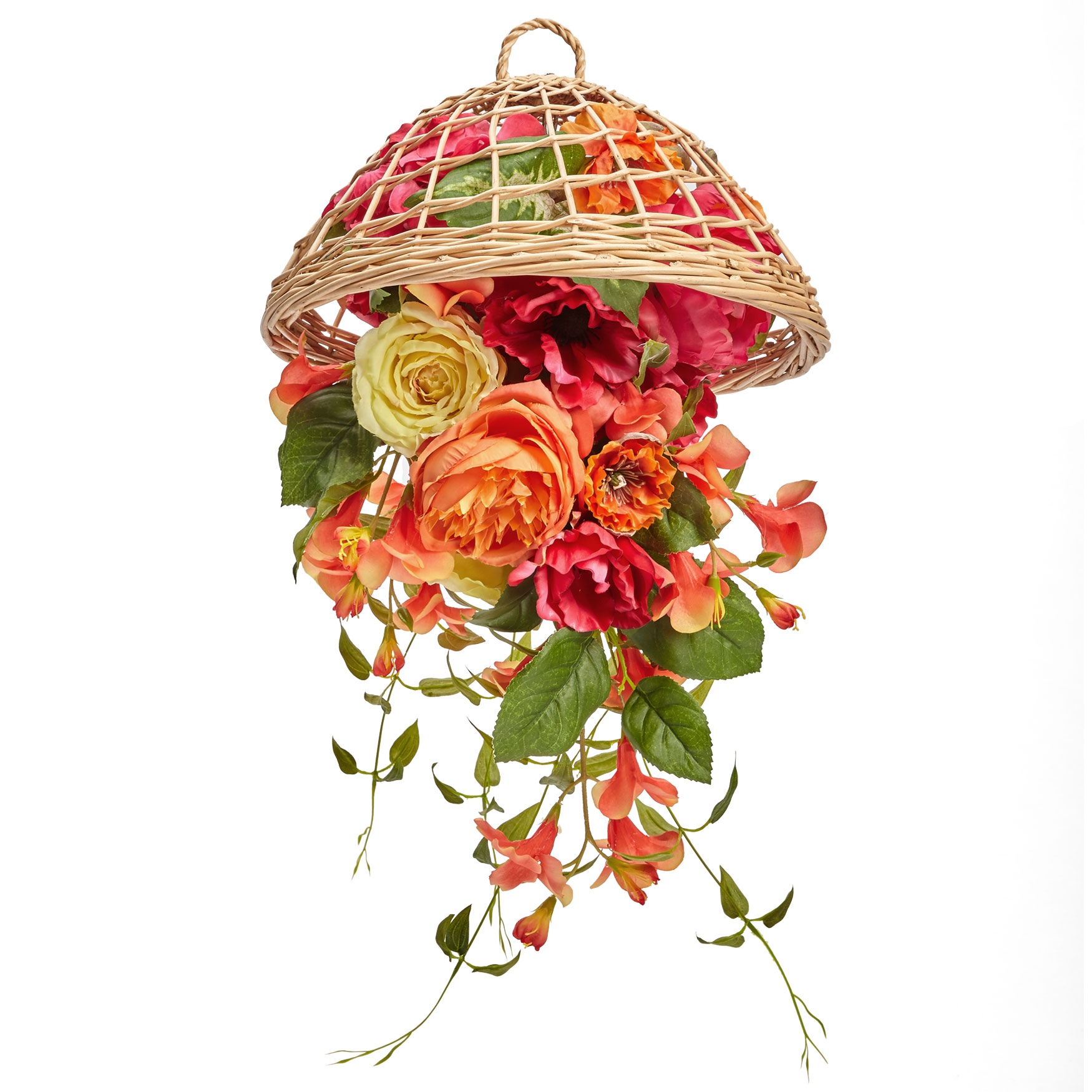 Floral Hanging Basket, MULTI