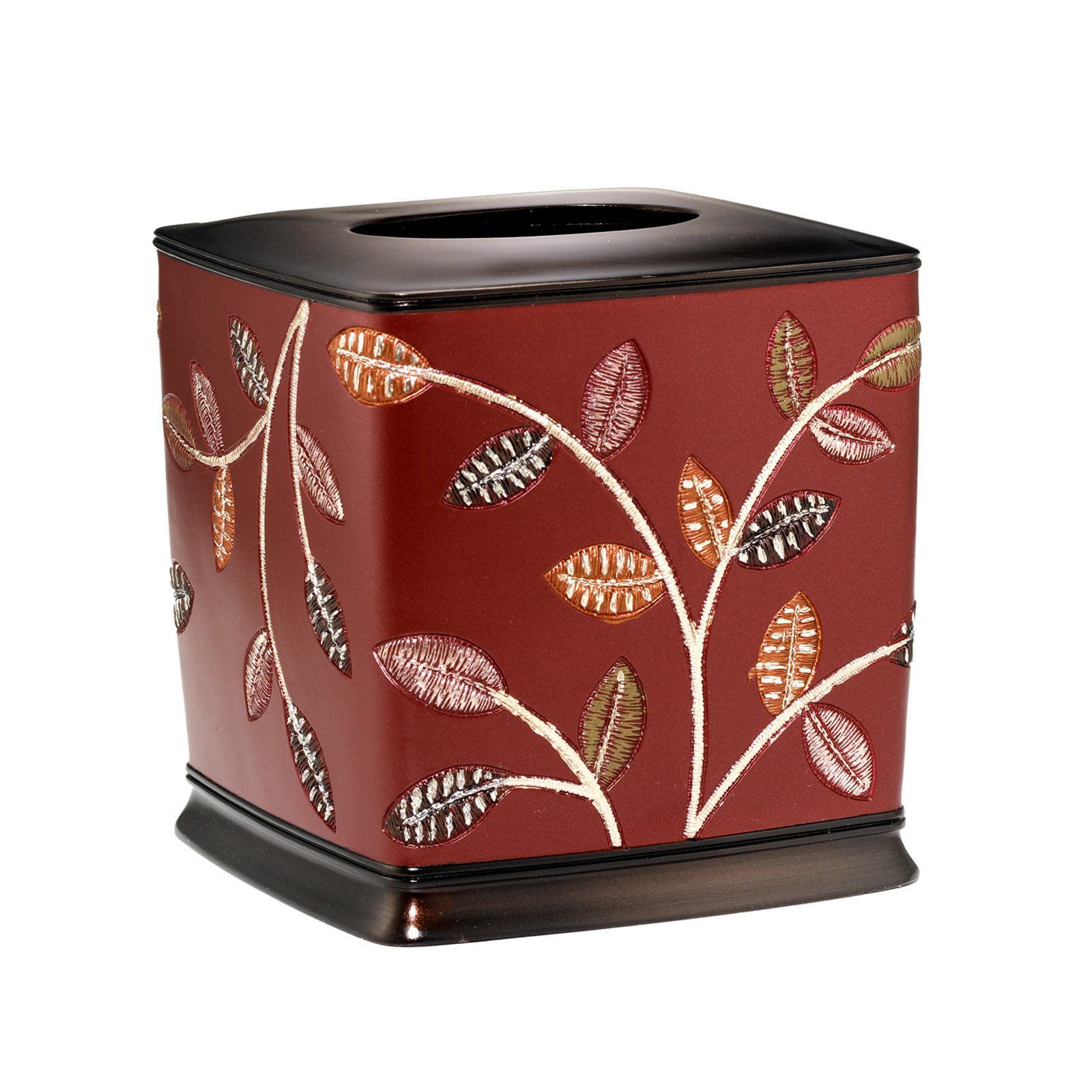 Aubury Tissue Box, BURGUNDY