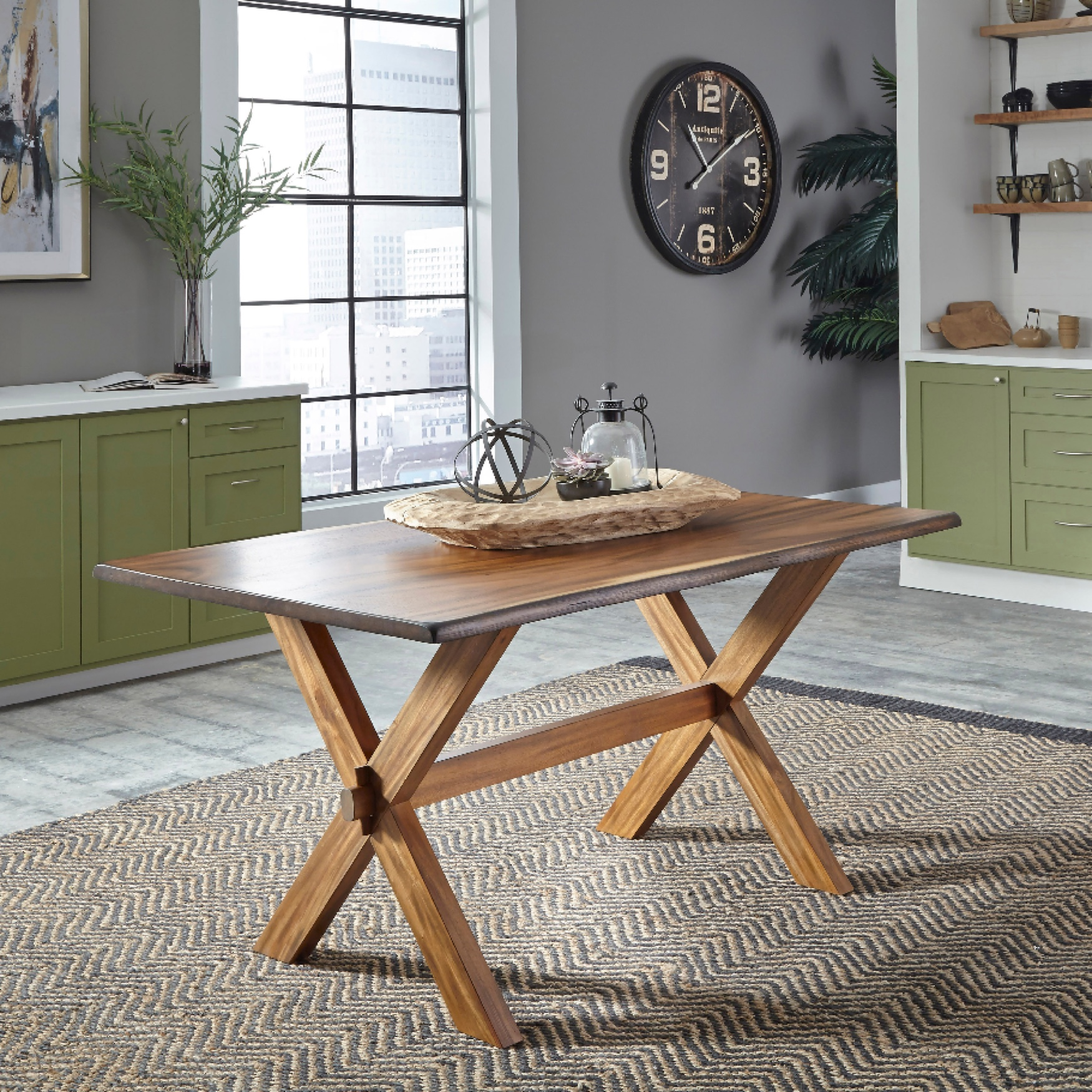 Forest Retreat Trestle Dining Table by Home Styles, WOOD