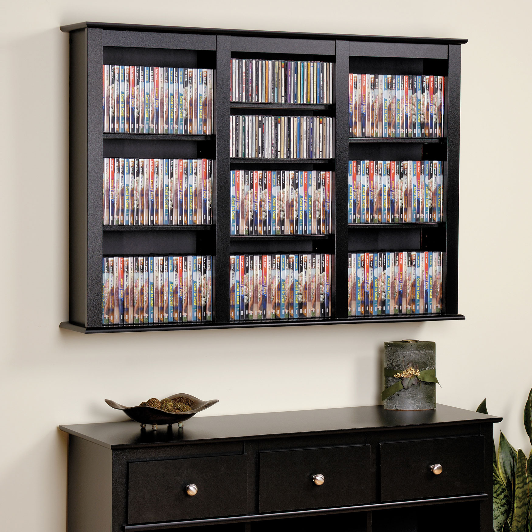 Home Plus Furniture: Triple Wall Mounted Multimedia Storage