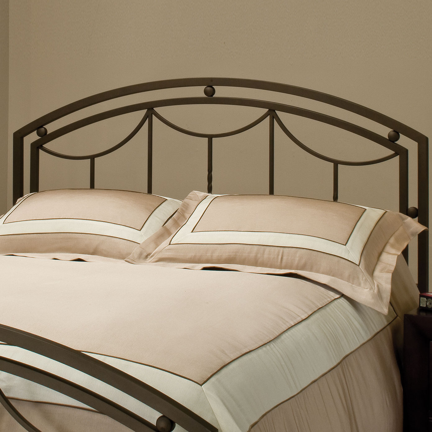 "Full/Queen Headboard with Frame, 71½""x62""x55"", BRONZE"