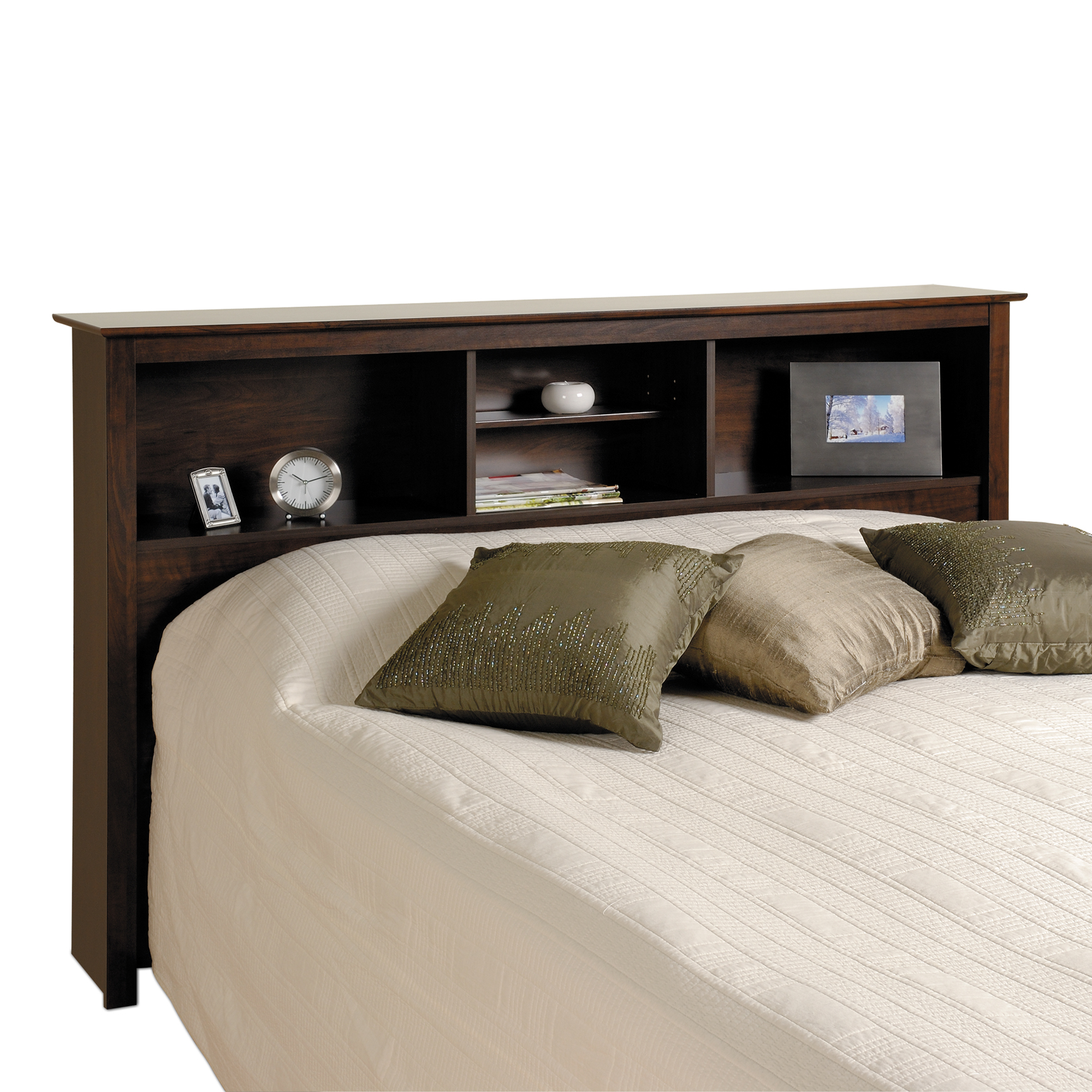 Fremont Espresso Double / Queen Bookcase Headboard, ESPRESSO