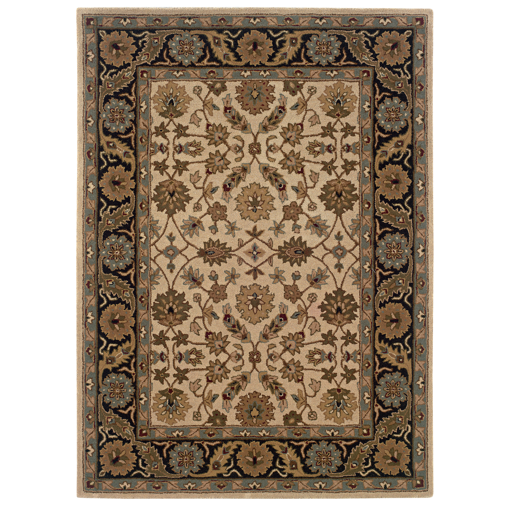 Trio Traditional Floral 5'X7' Area Rug, FLORAL