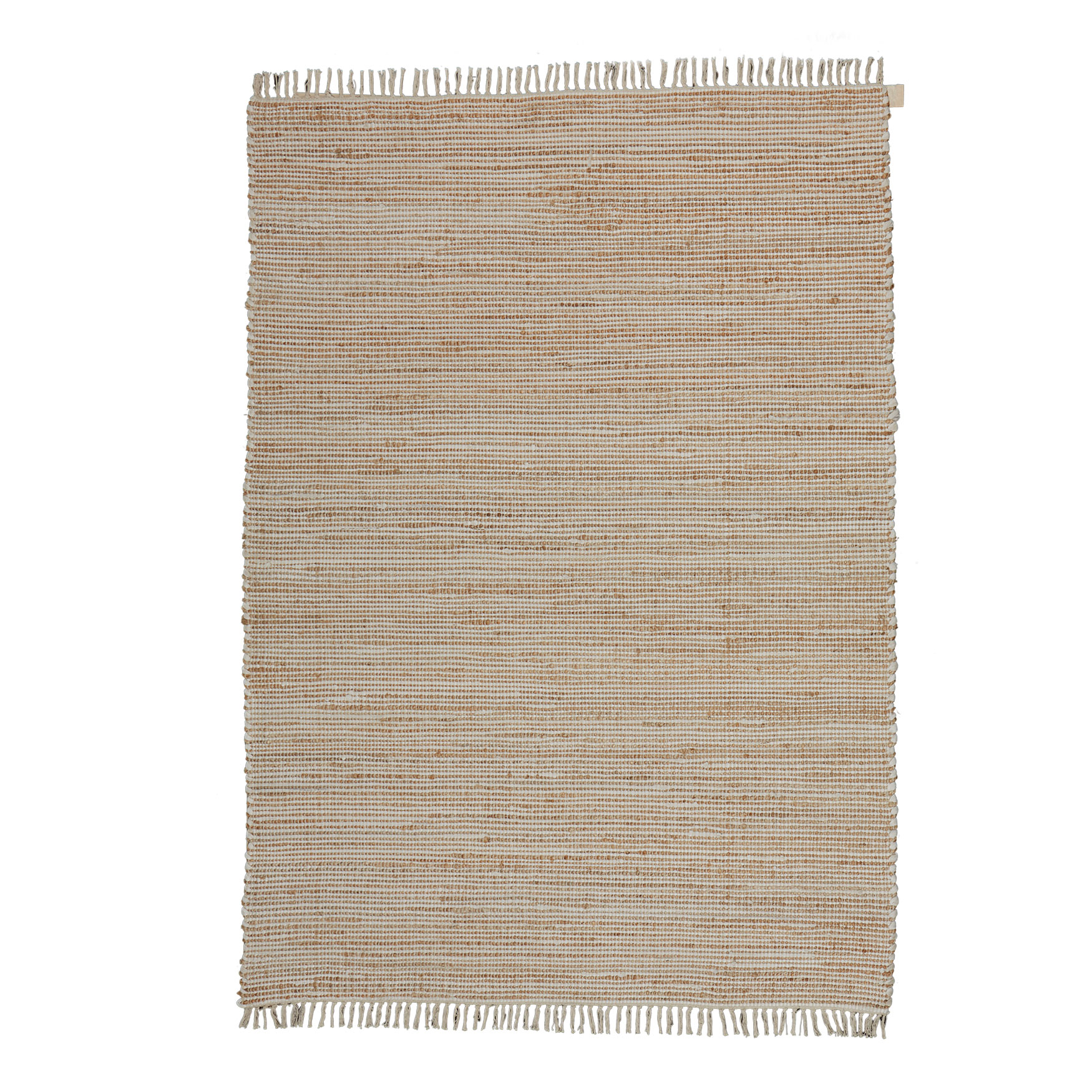 Ellwood Small Stripe Pattern Rug , NATURAL WHITE