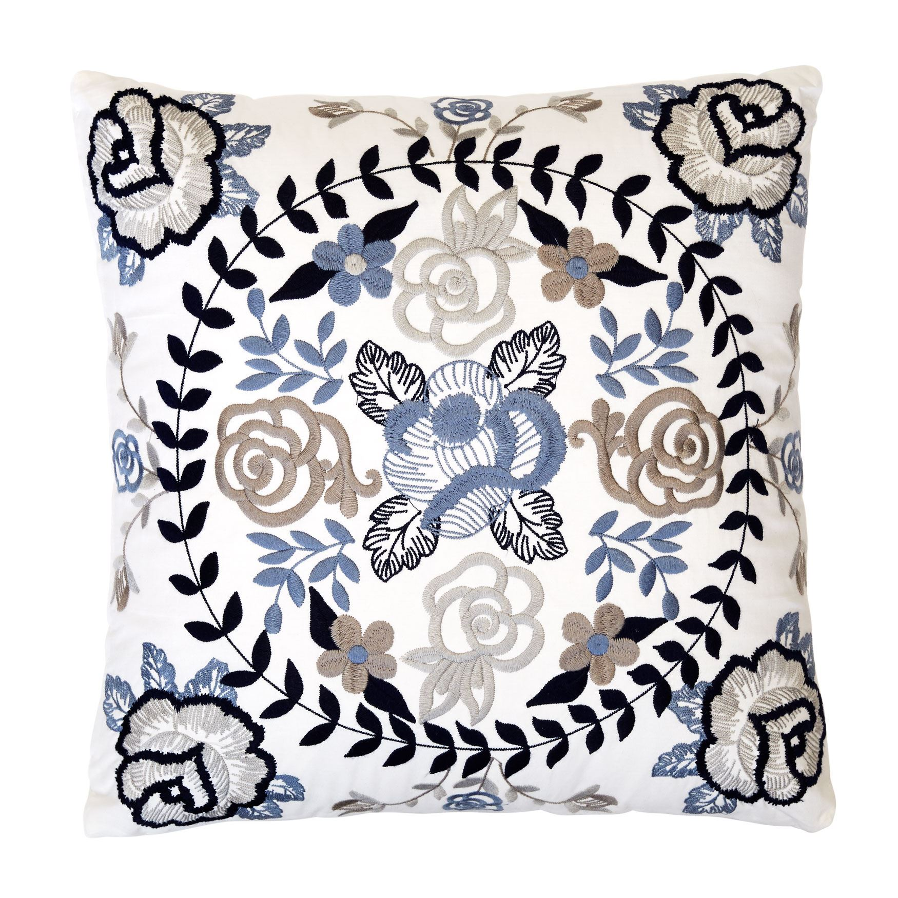 Margot Puff Printed Square Pillow, MULTI