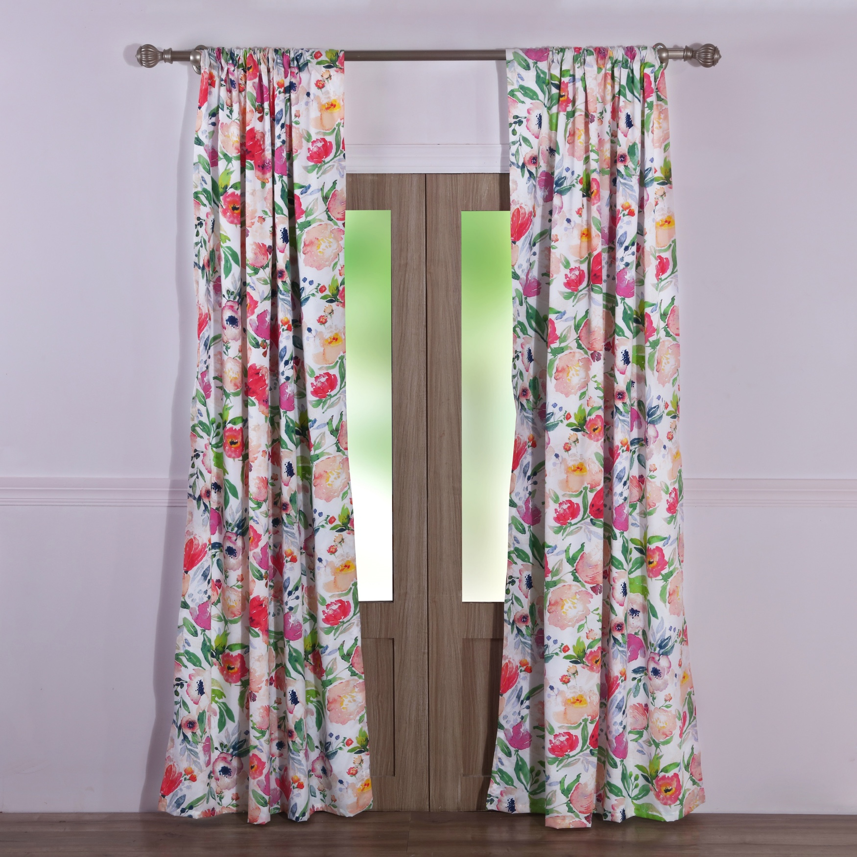 Blossom Curtain Panel Pair by Barefoot Bungalow, MULTI