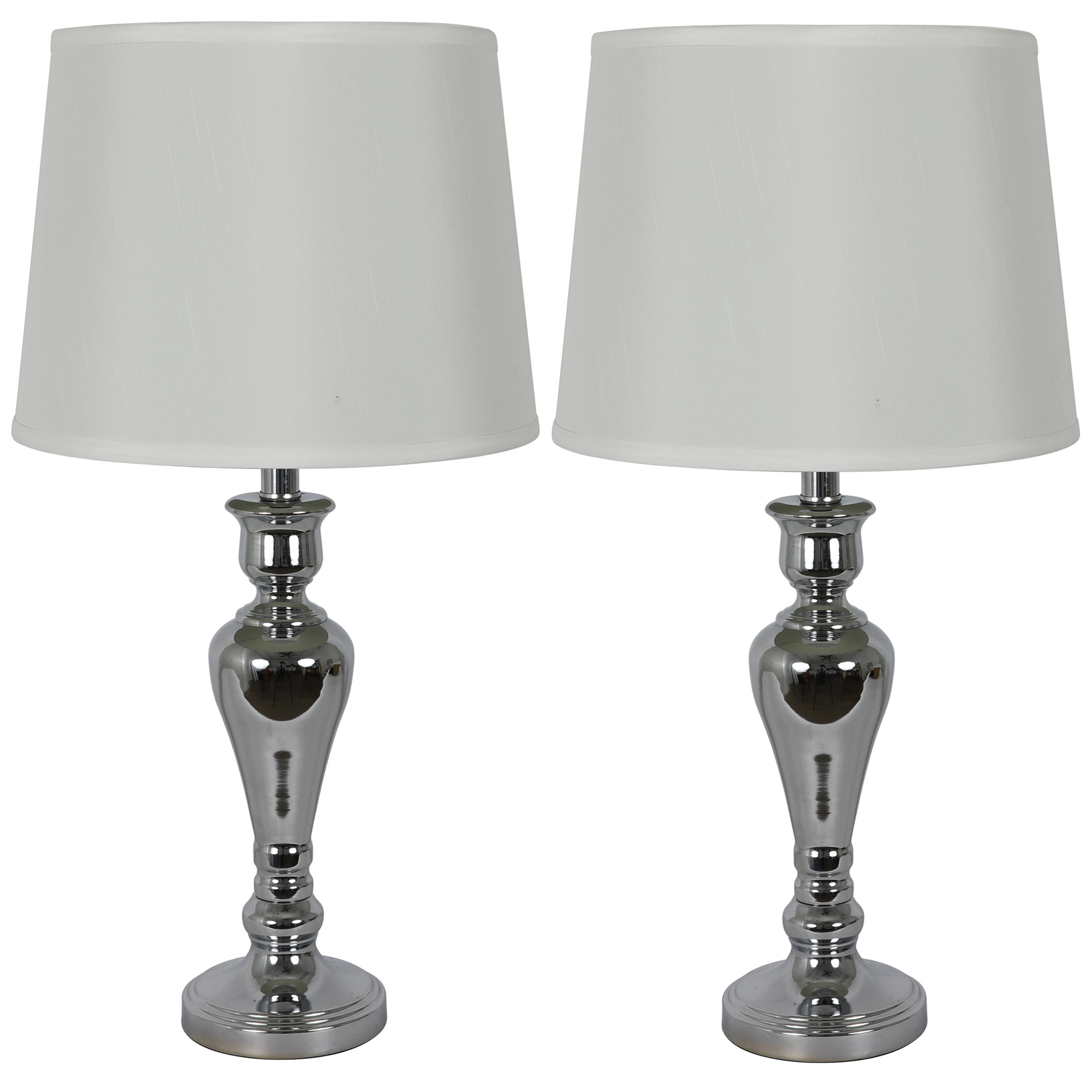 Chrome Touch Control 2-Pack Lamp by J. Hunt, CHROME