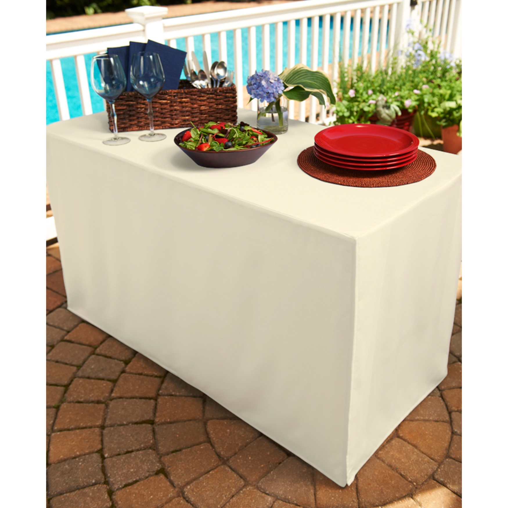 Fresh Ideas Table Cover for Folding Table,