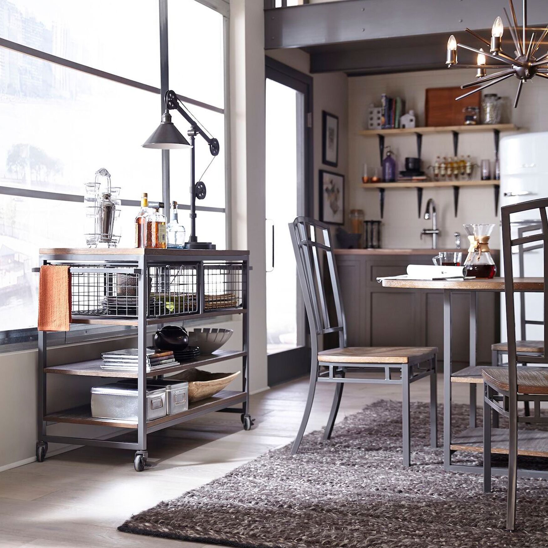 Brylane Home Kitchen: Barnside Metro Kitchen Cart