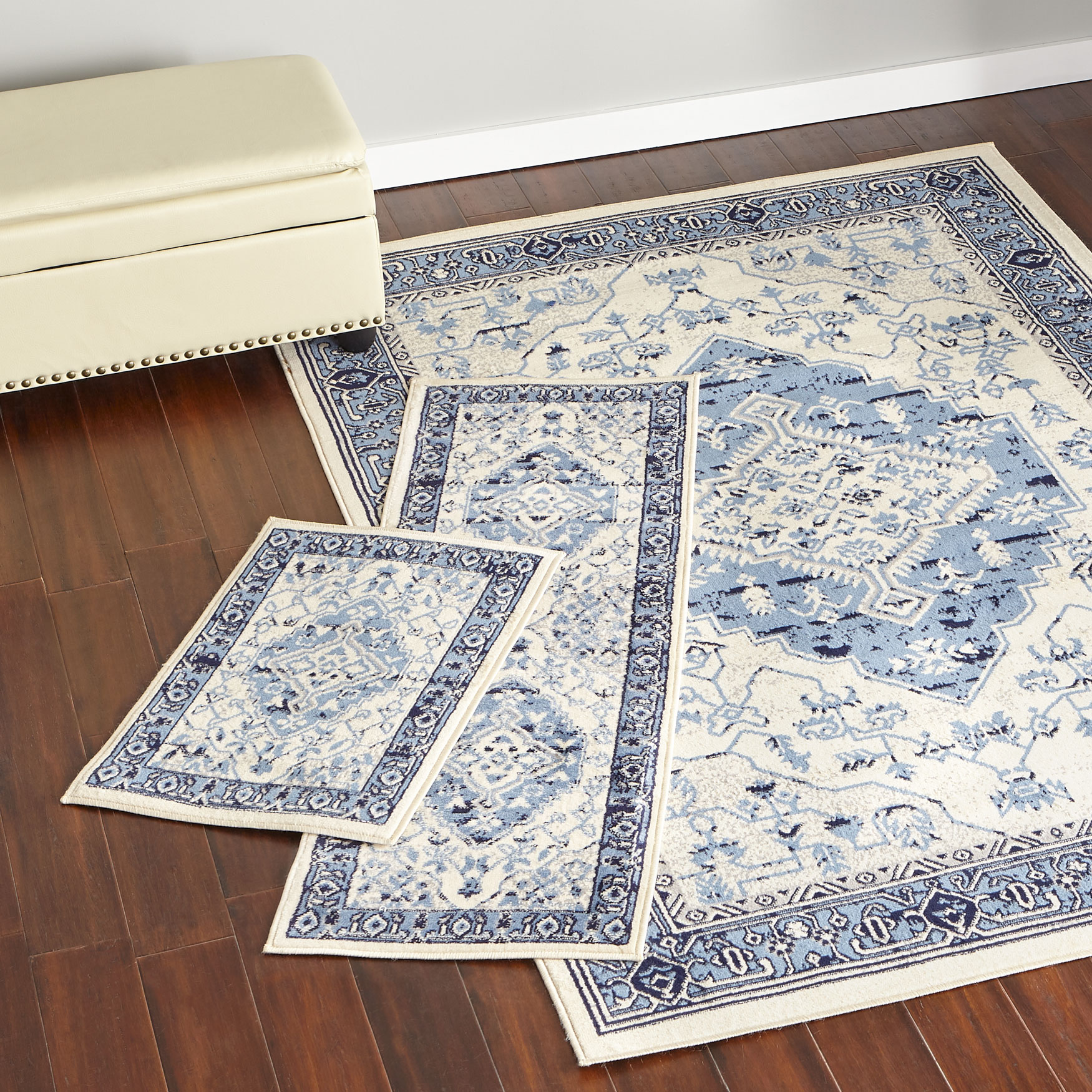 Shiraz 3-Pc. Rug Set with Runner, BLUE