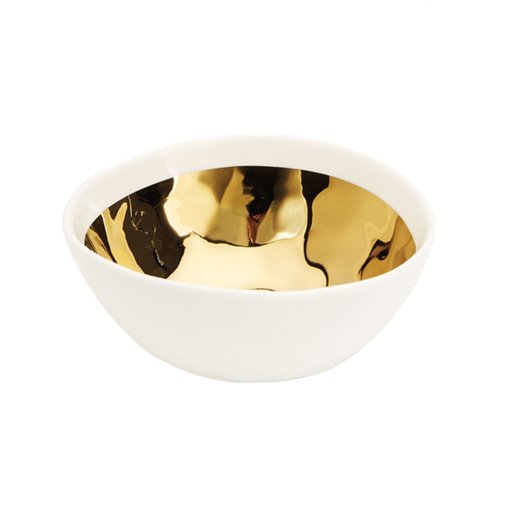 Golden Border Tiny Bowls, Set of 4, WHITE GOLD