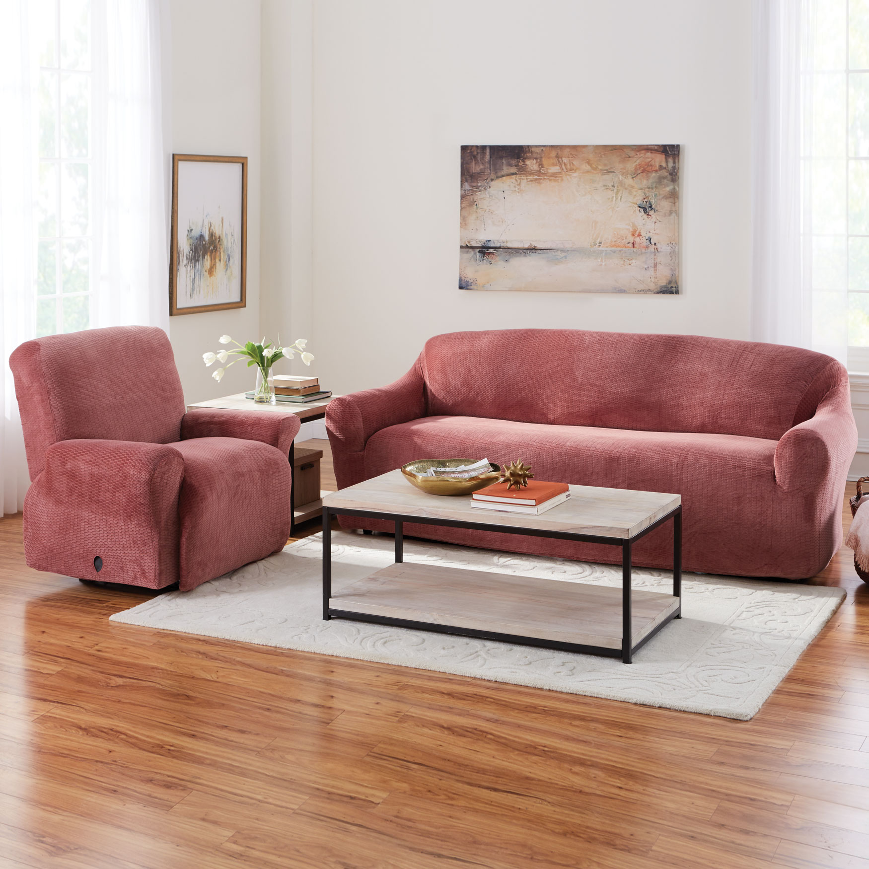 BH Studio Brighton Stretch Sofa Slipcover,