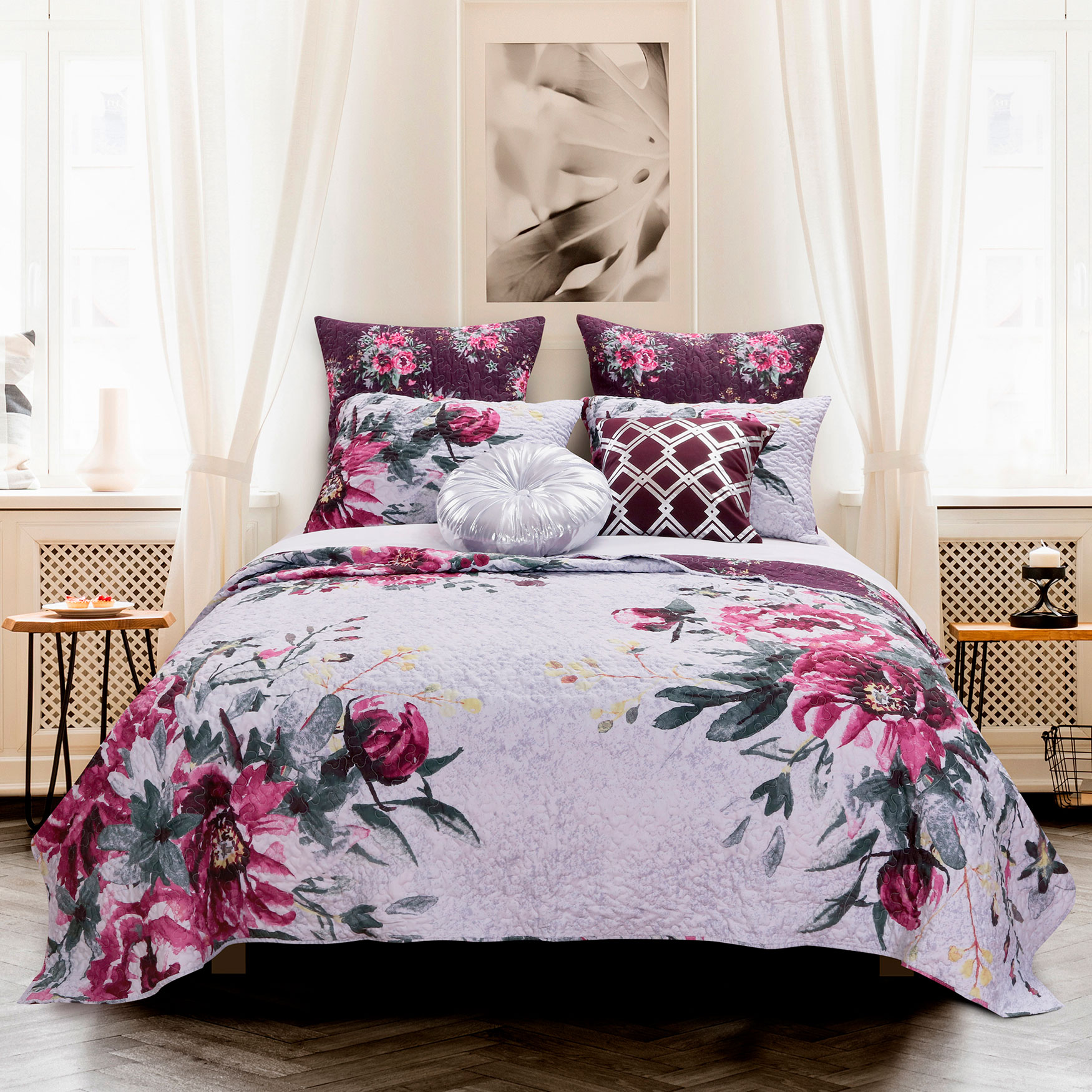 Rose Touch Quilt Set by Greenland Home Fashions,