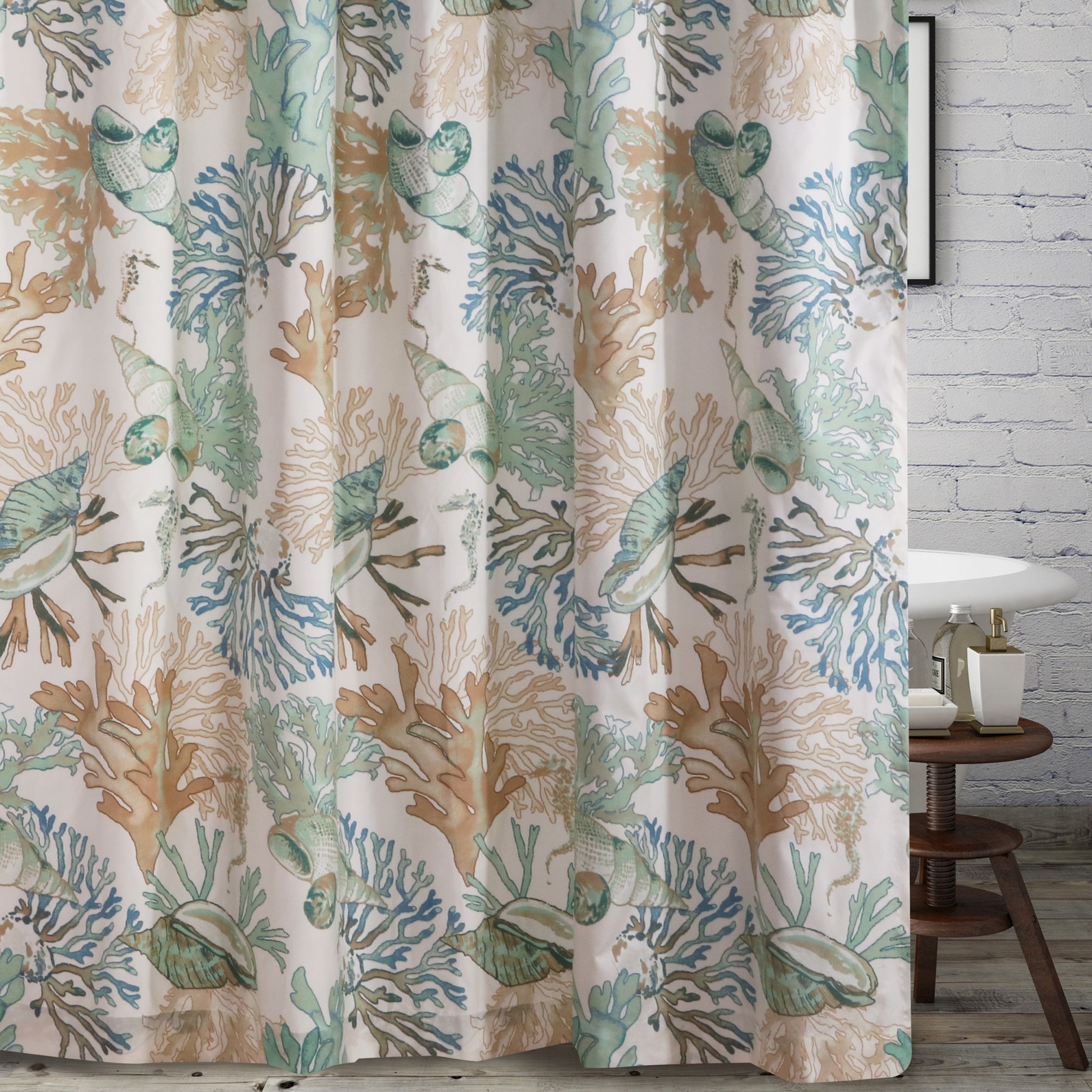 Barefoot Bungalow Atlantis Shower Curtain, JADE
