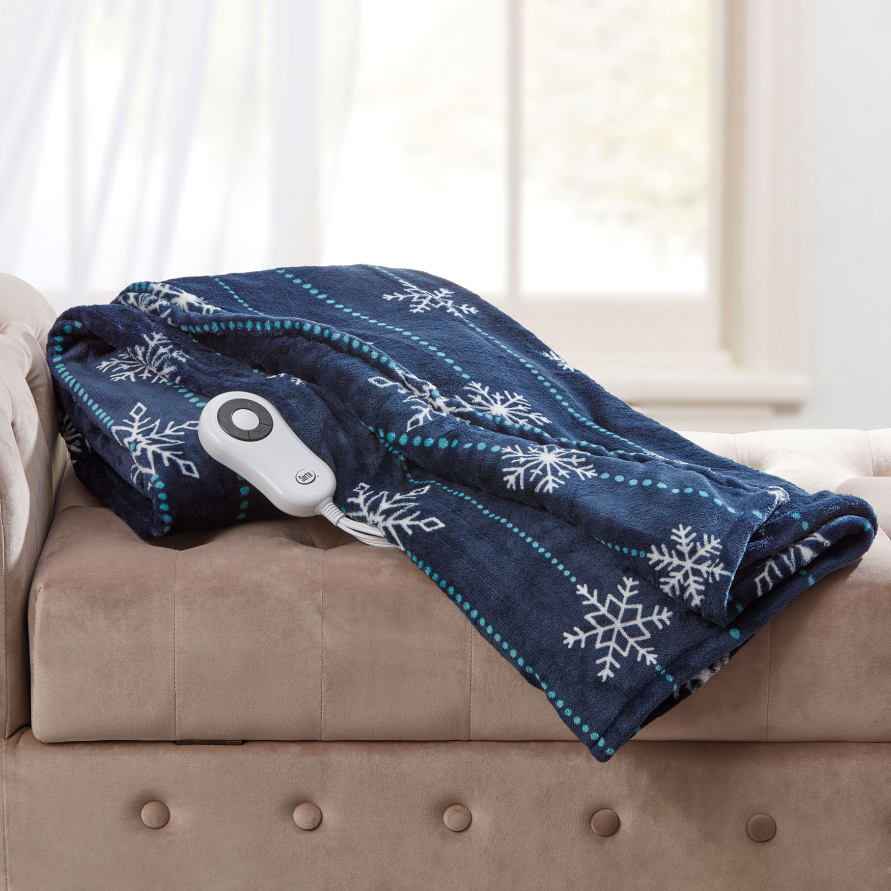Faux Fur Electric Warming Throw by Serta,
