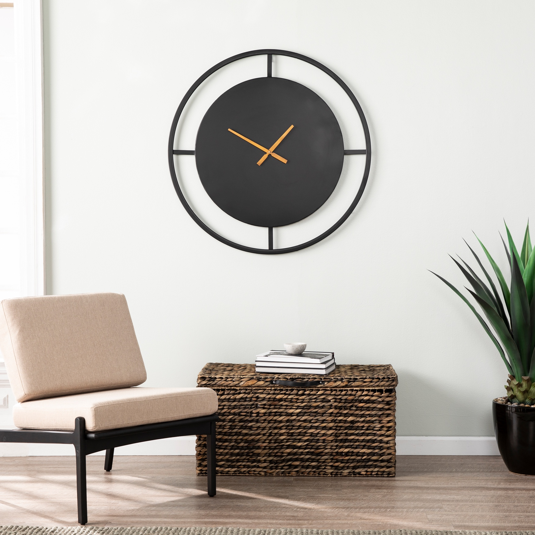 Ekstine Decorative Wall Clock, BLACK