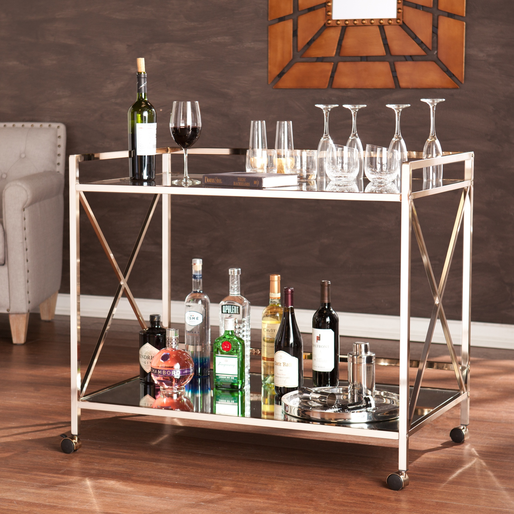 Maxton Bar Cart, GOLD