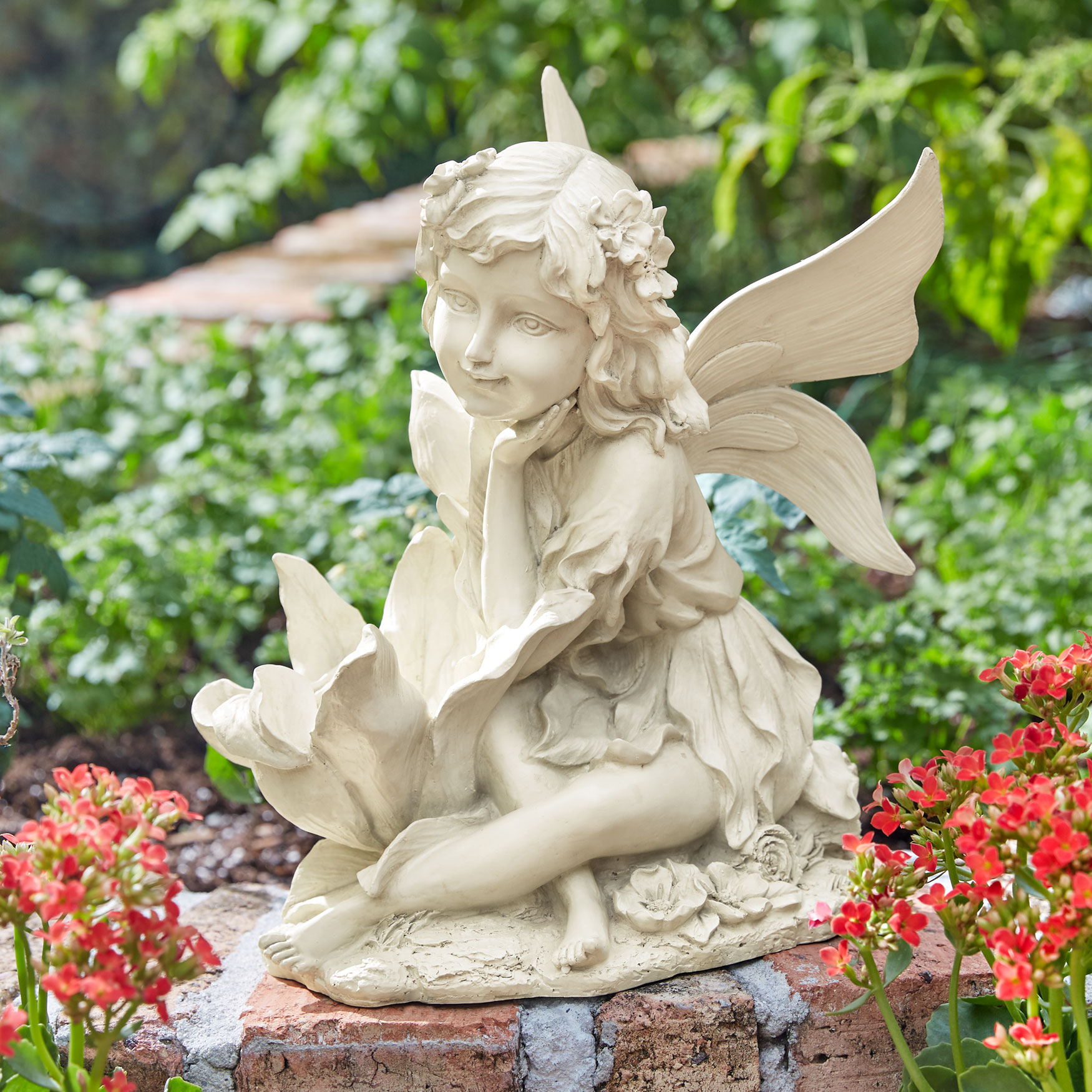 Sitting Fairy Statue, IVORY