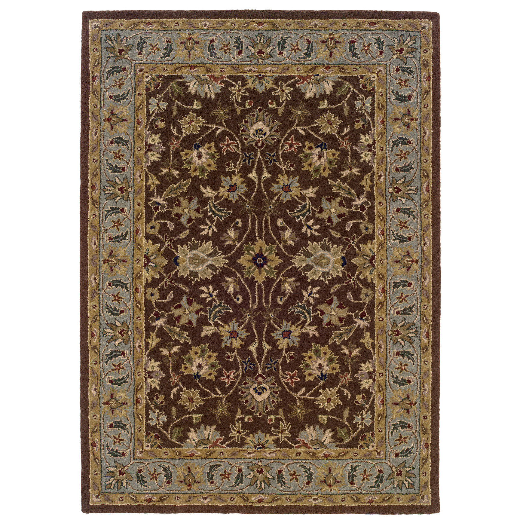 Trio Brown 8'X10' Area Rug, BROWN