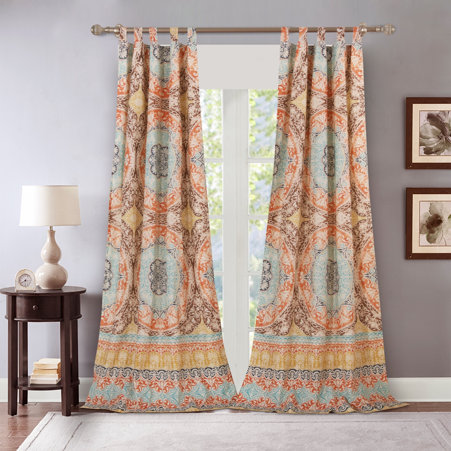 Olympia Curtain Panel Pair by Barefoot Bungalow, MULTI