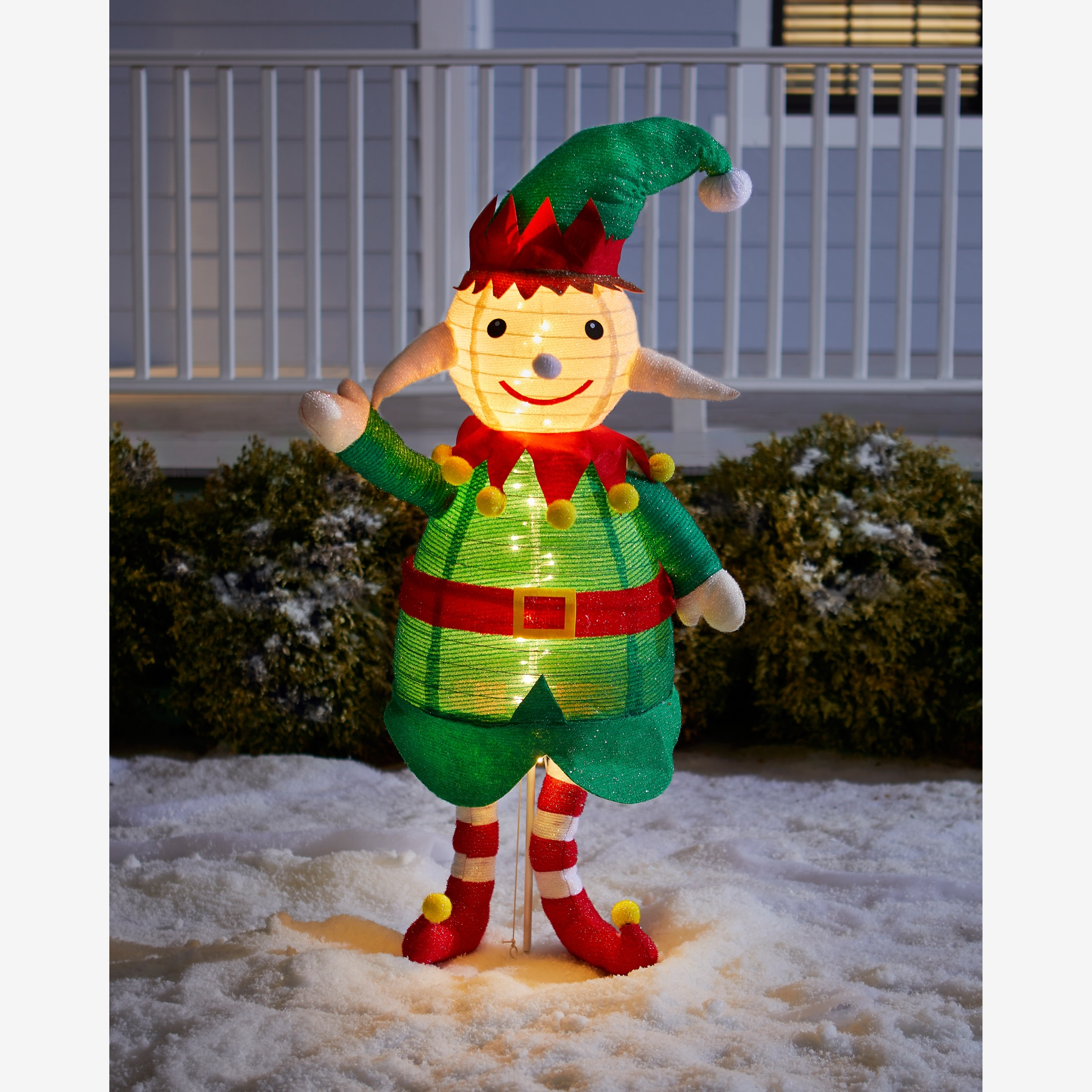 "48""H Pre-Lit Pop-Up Elf, RED GREEN"
