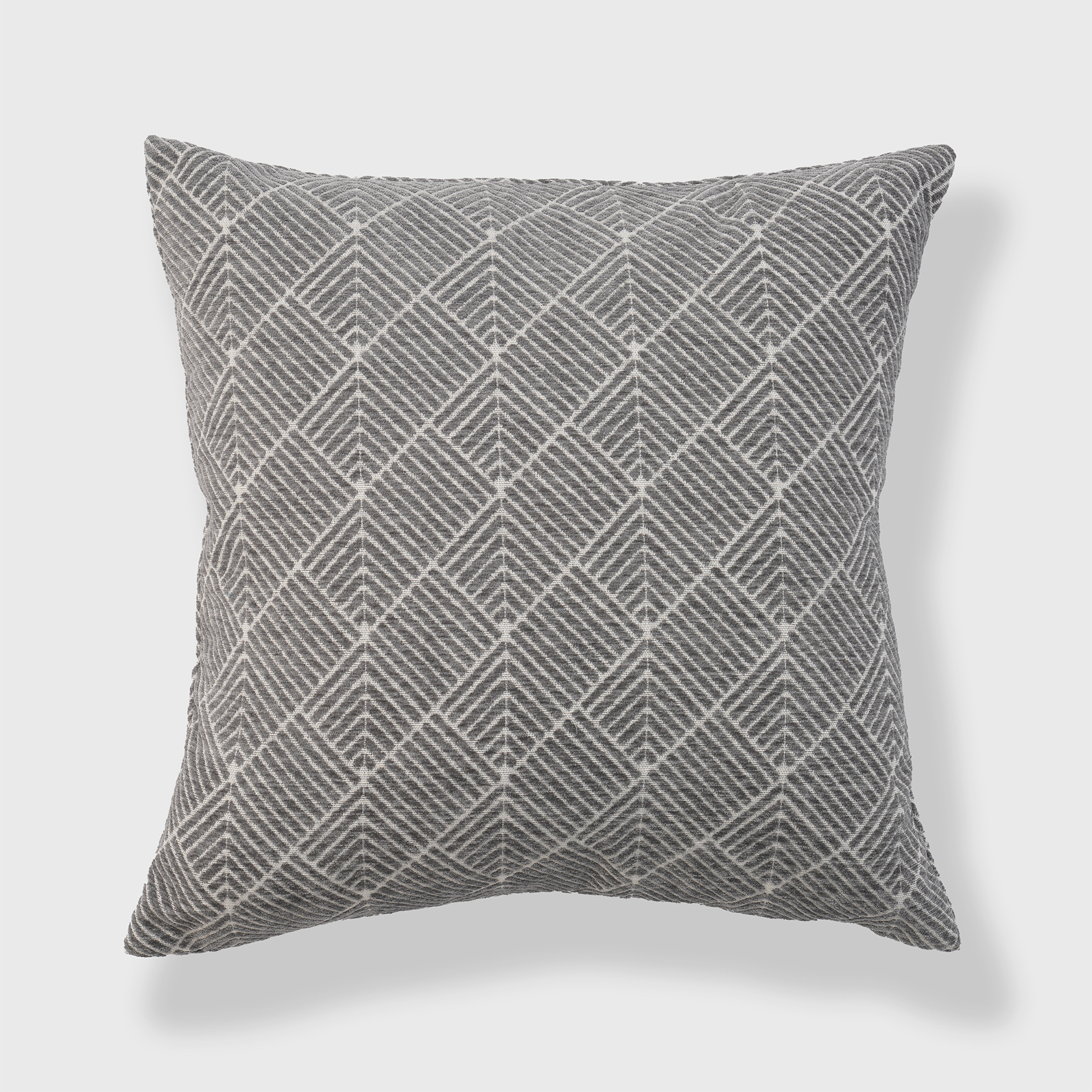 Diamond Geo Chenille Woven Jacquard Accent Pillow,