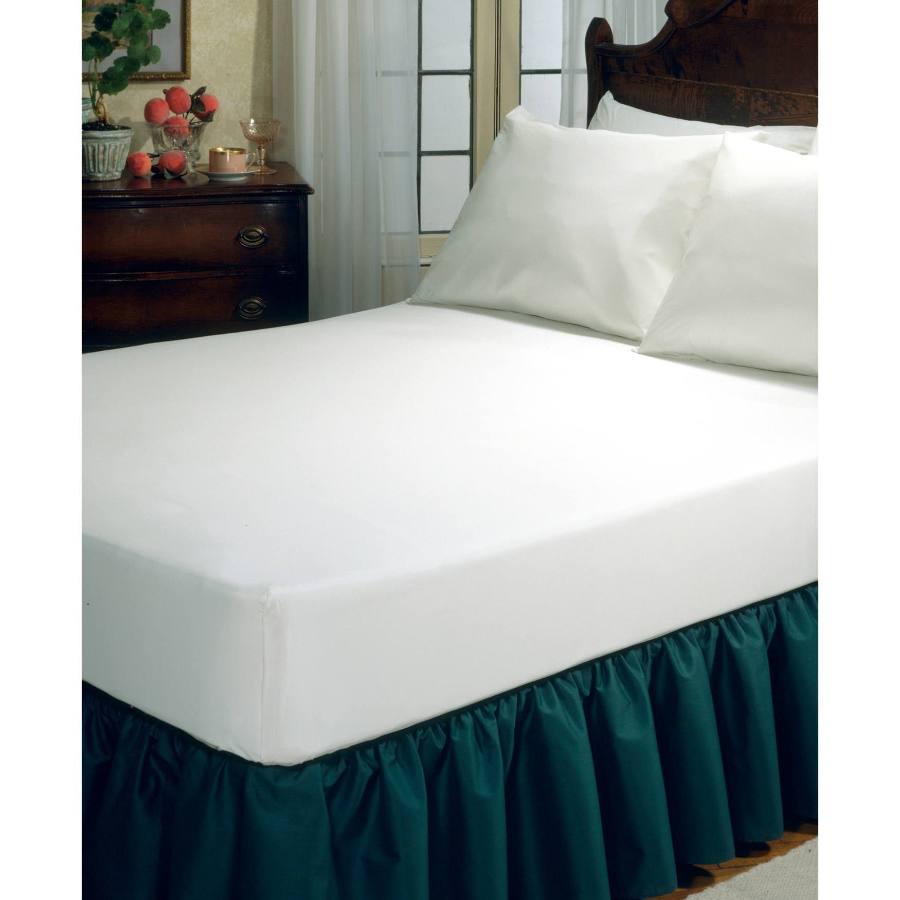 Fresh Ideas Fitted Vinyl Mattress Protector,