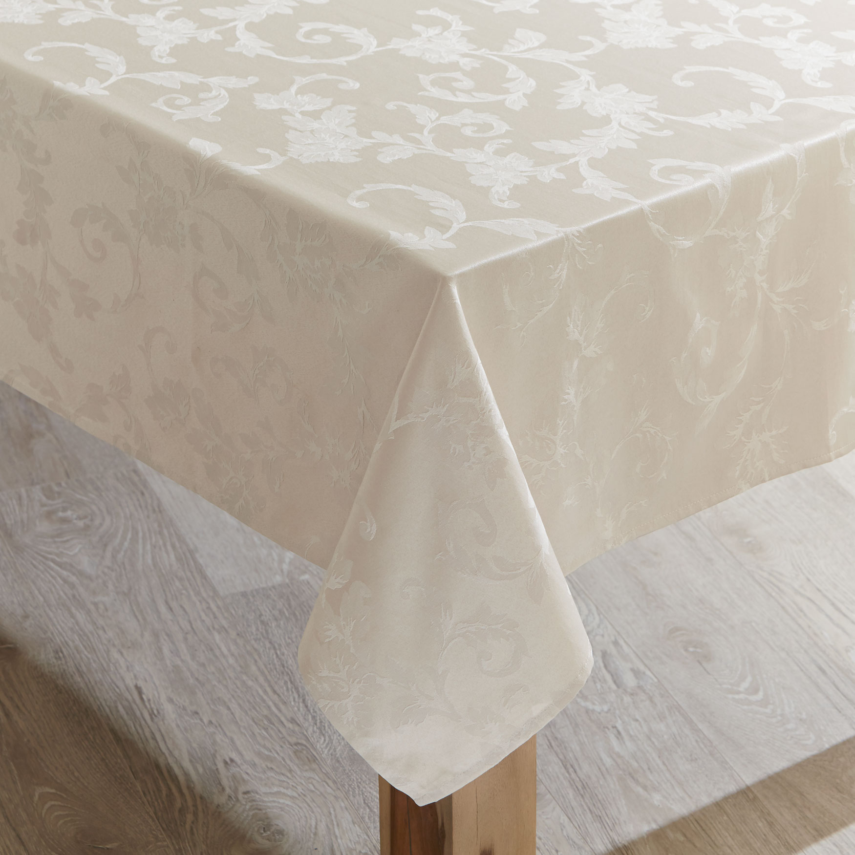 "60"" x 84"" Grand Luxe Tablecloth , BIRCH"
