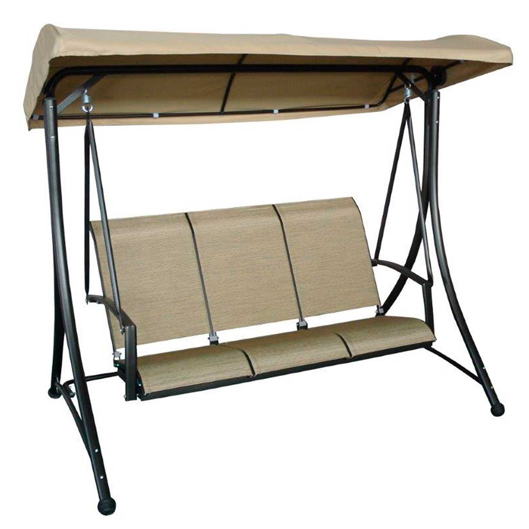 3 Seat Swing with Canopy, TAUPE