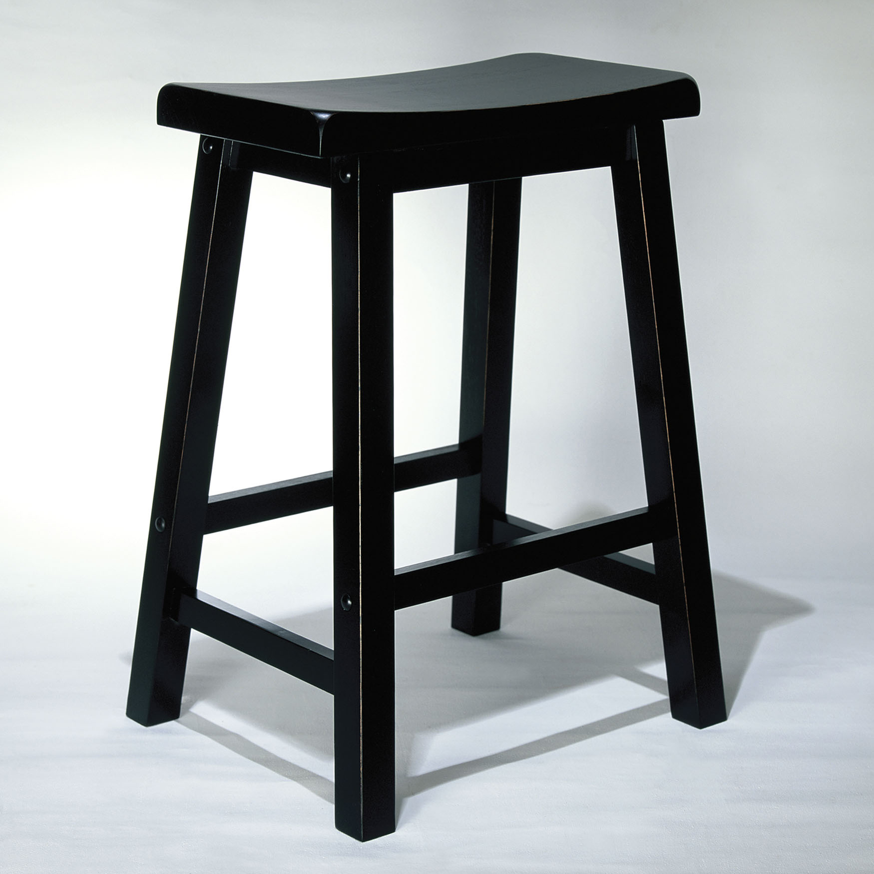 "Counter Stool, 24"" Seat Height, ANTIQUE BLACK"