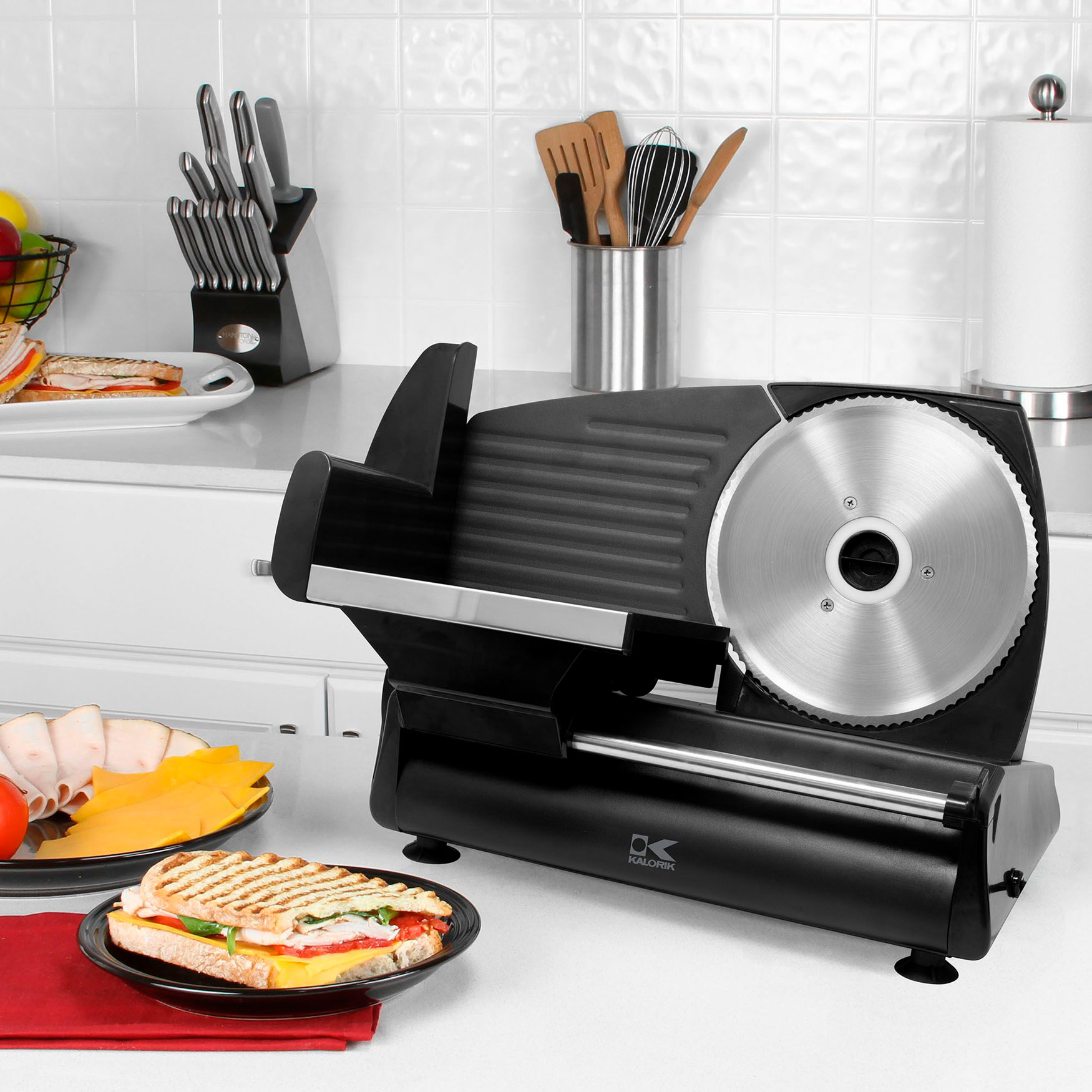 Kalorik Professional Style Food Slicer, BLACK