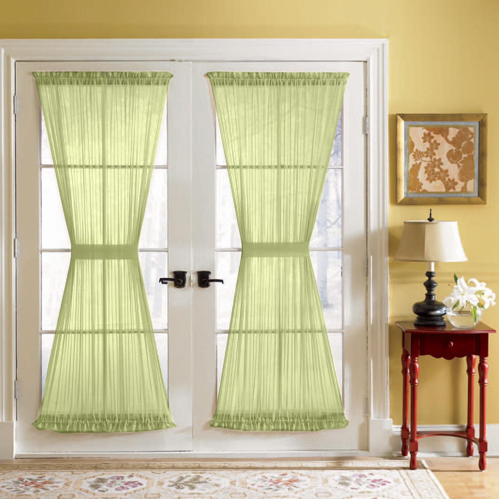Bh Studio Sheer Voile Door Panel With Tiebacks