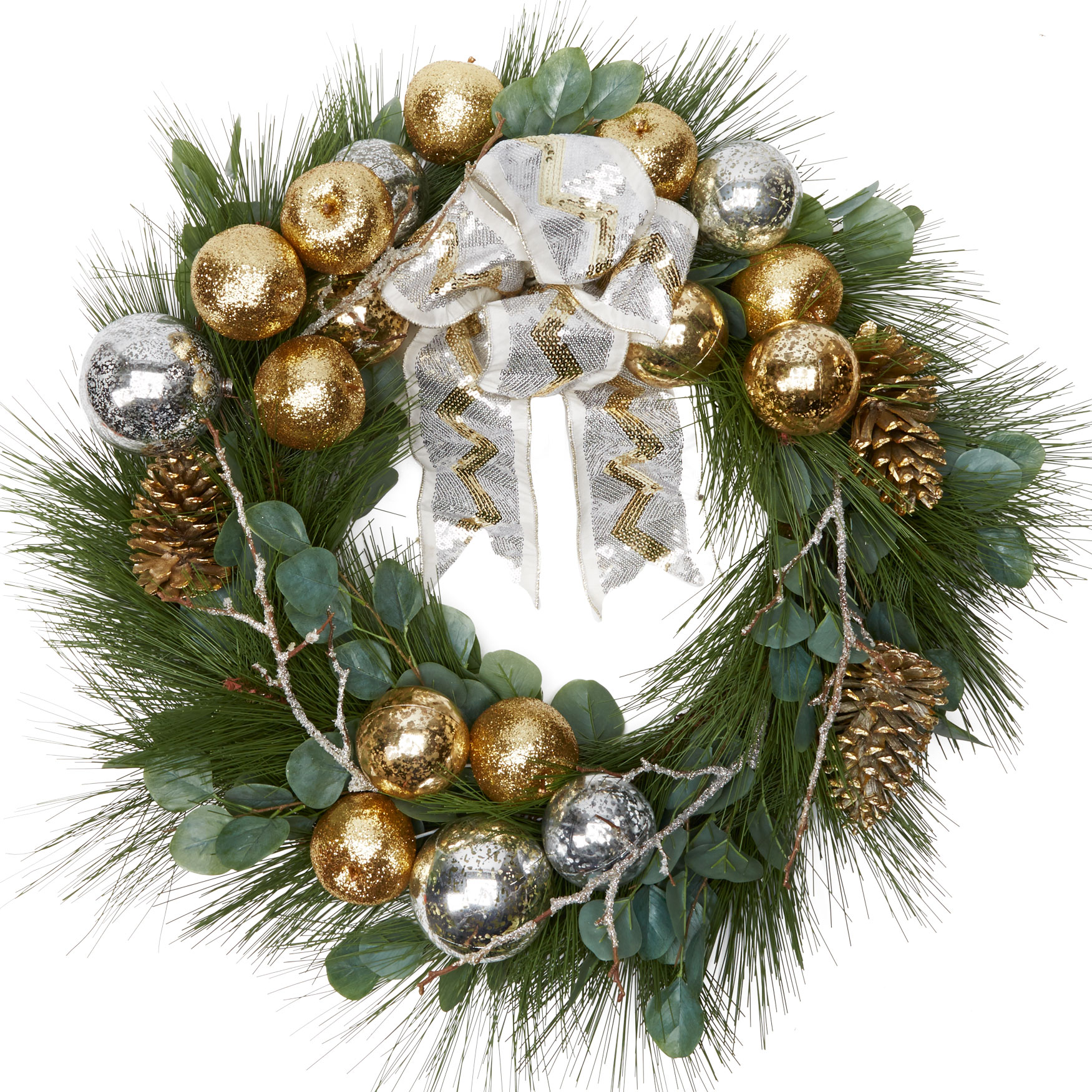 "30"" Noble Glitz Wreath, MULTI"