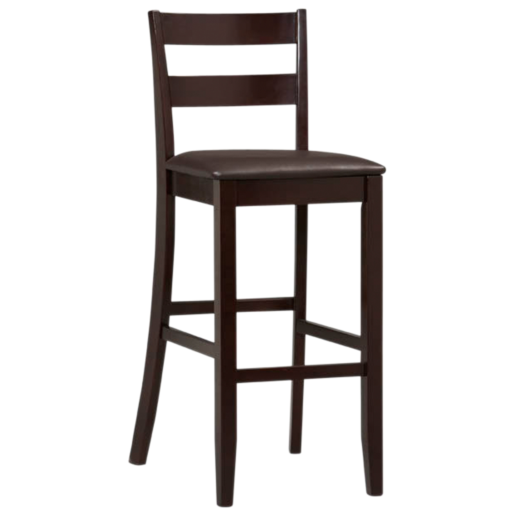 Triena Collection Soho Bar Stool, 30'H, ESPRESSO