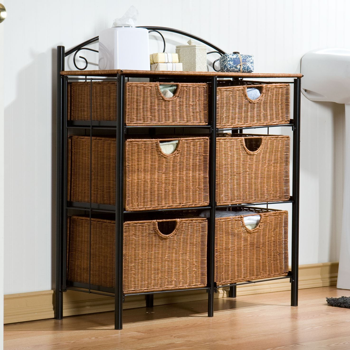 Iron/Wicker Storage Chest,