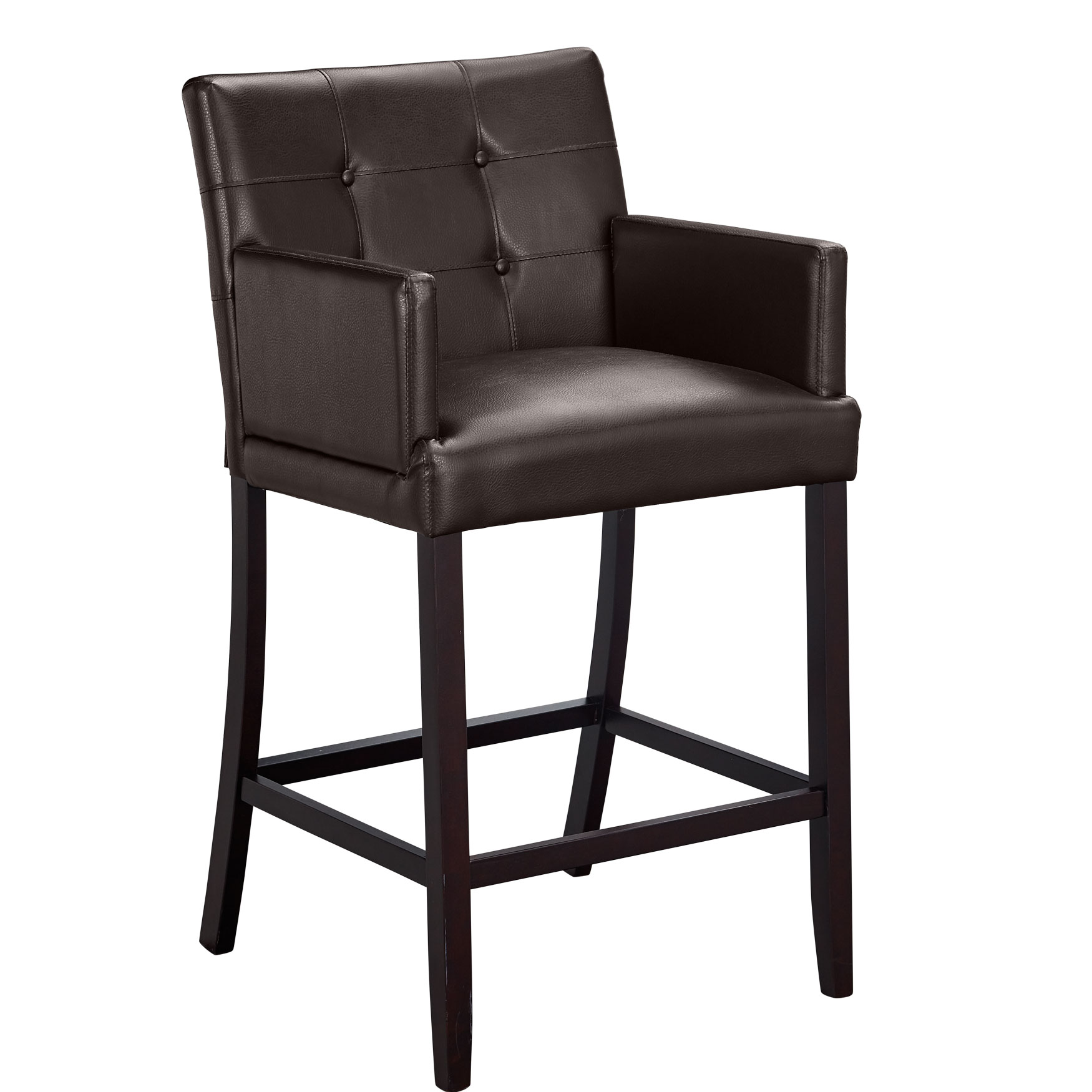 Pearce Extra Wide Bar Stool Dark Brown