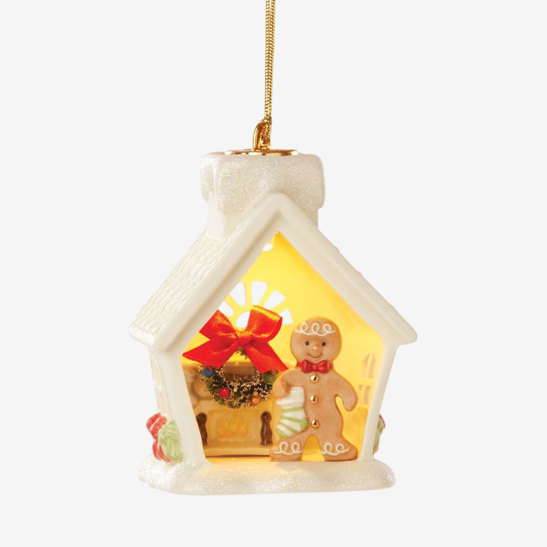 Lenox® Light-Up Gingerbread House Ornament, MULTI