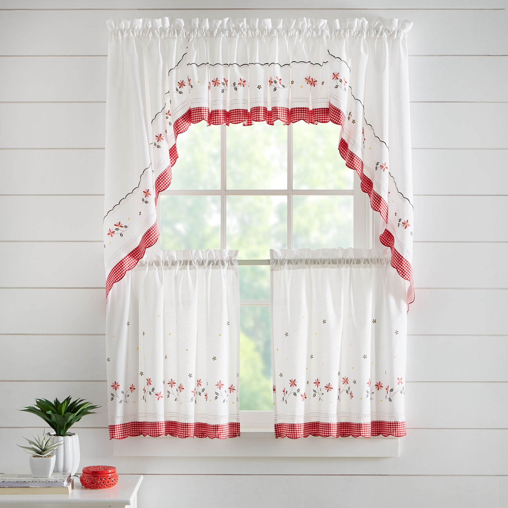 Gingham Curtain Collection Set,