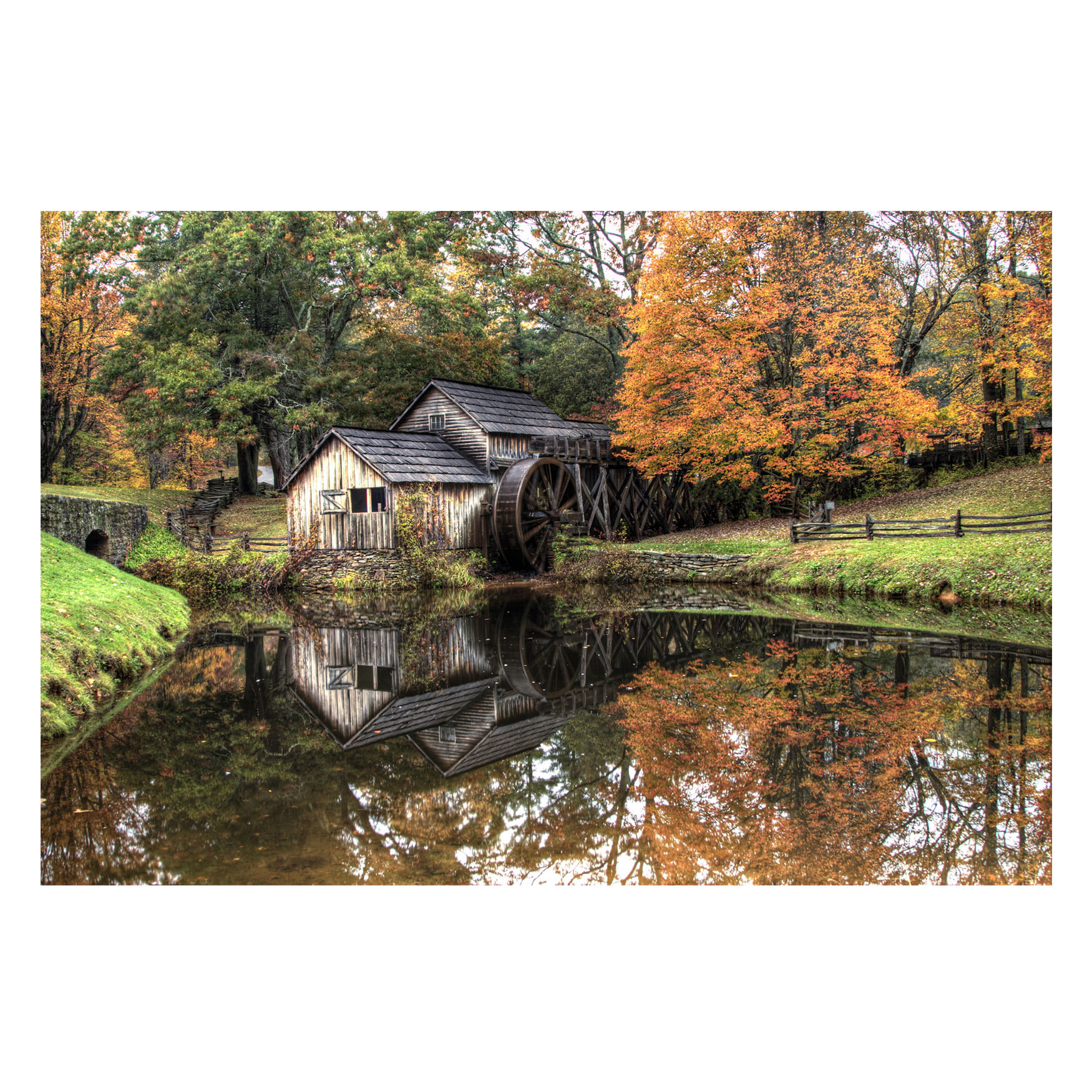 Old Mill Outdoor Canvas Art, MULTI
