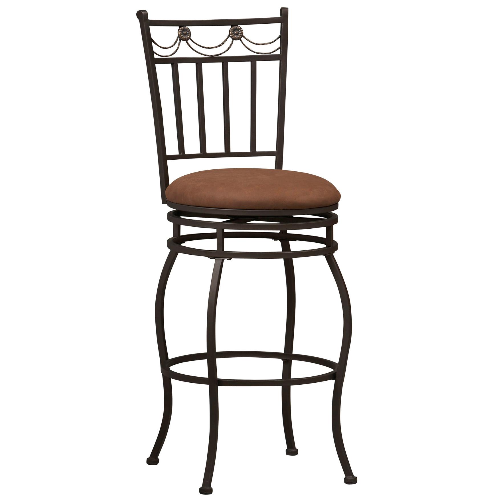 Swag bar stool 30h powder
