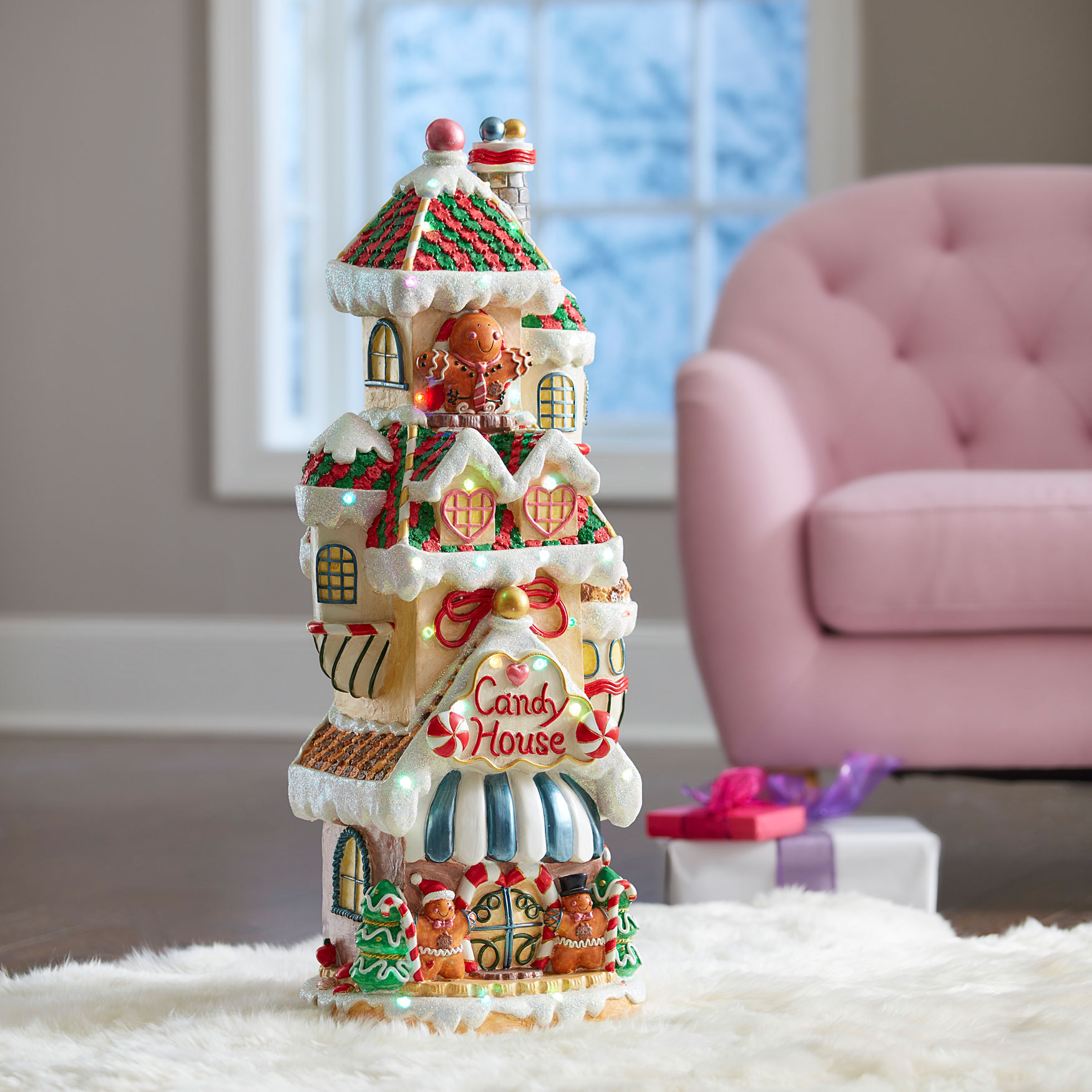 Pre-Lit Candy House, MULTI