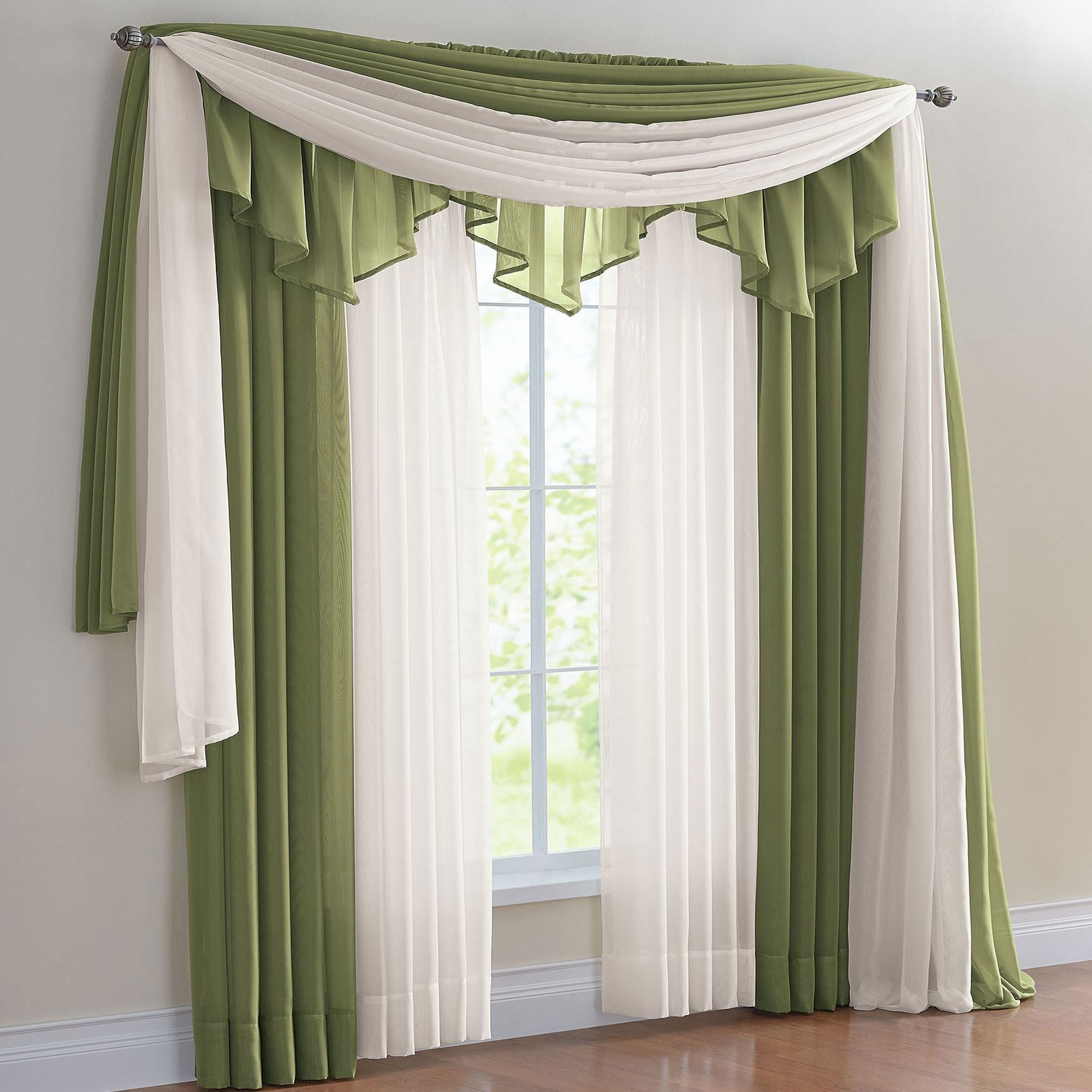prodigious Voile Valance Part - 8: BH STUDIO® Sheer Voile Rod Pocket and Valance,