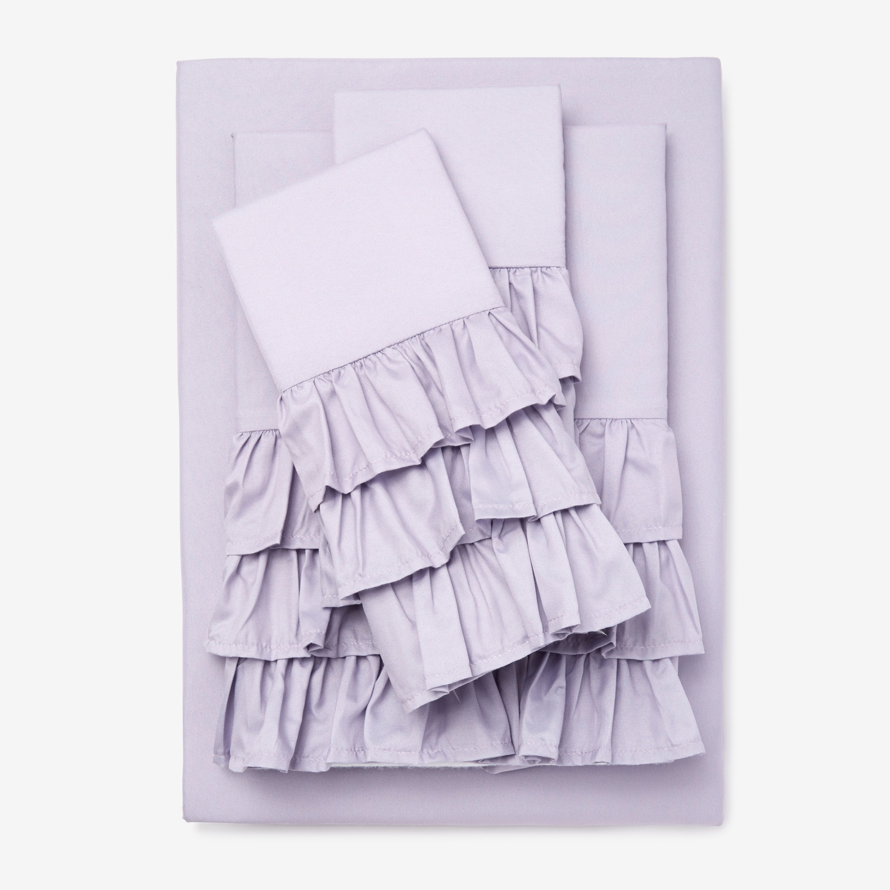 Ruffle Microfiber Sheet Set,