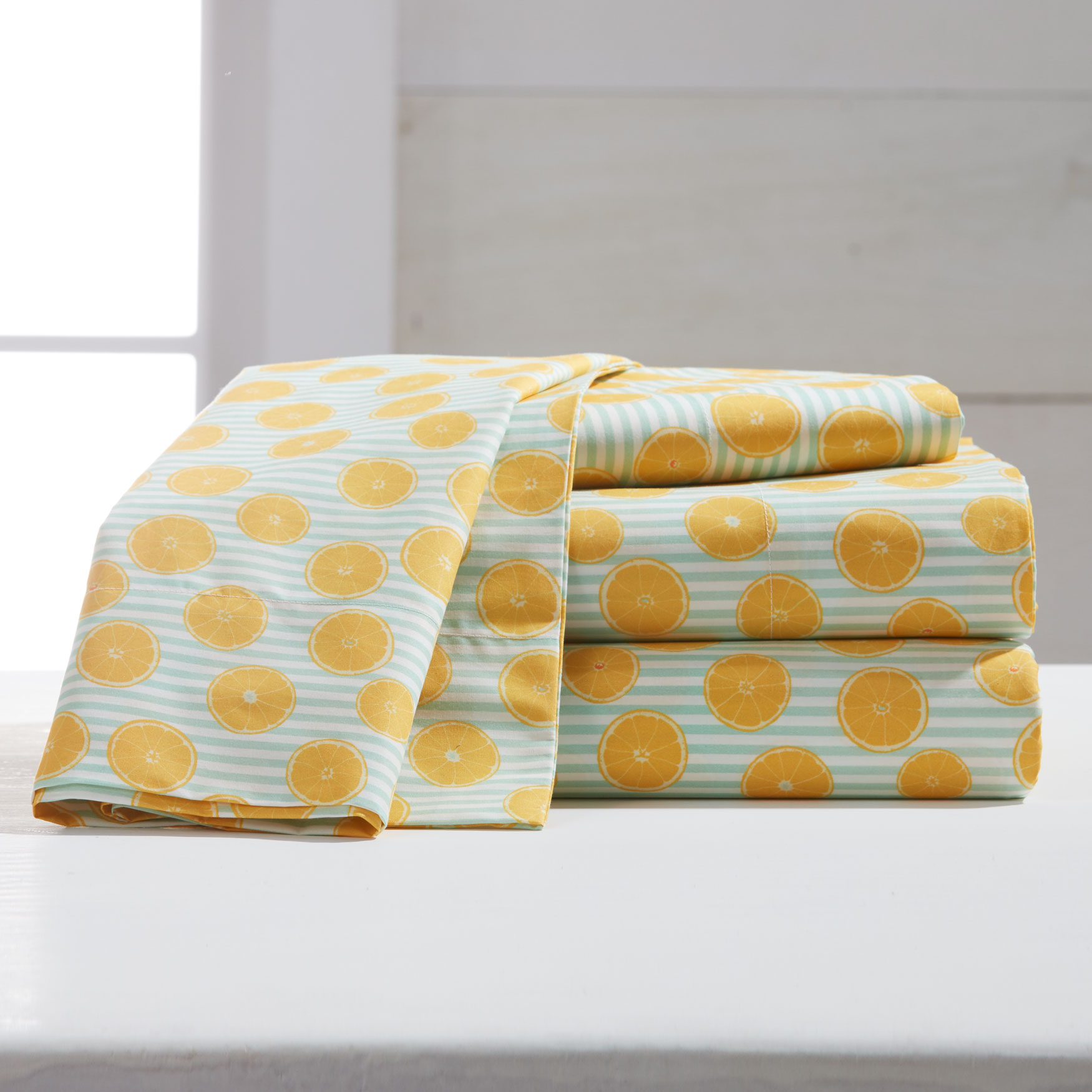 220-TC Percale Citrus Fruit Sheet Set,