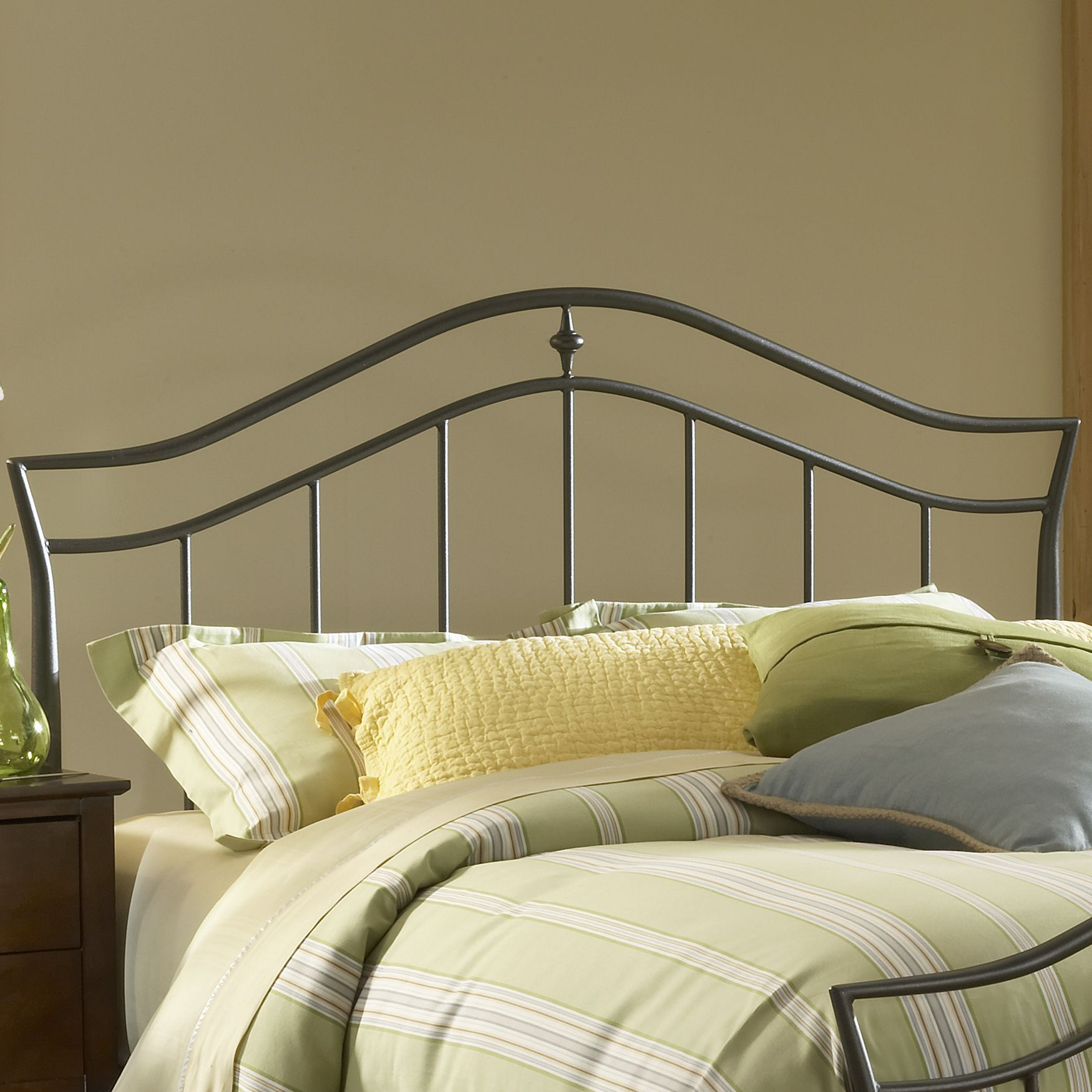 "Full/Queen Headboard with Headboard Frame, 83½""Lx63½""Wx50½""H, BLACK"
