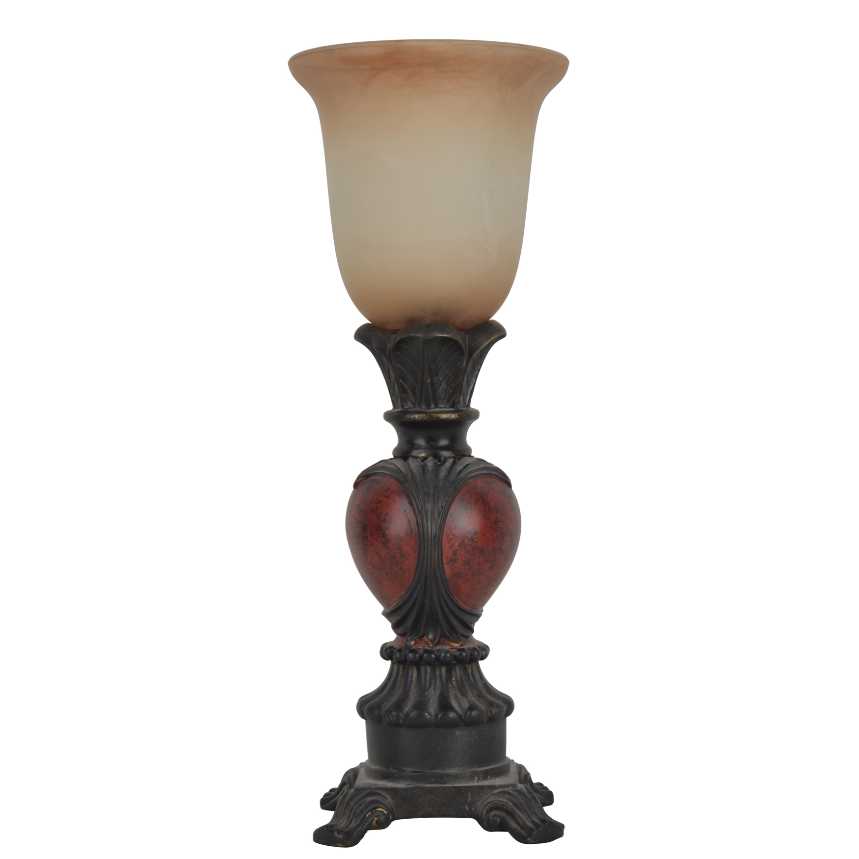 16' Traditional Carved Uplight, RICH RED