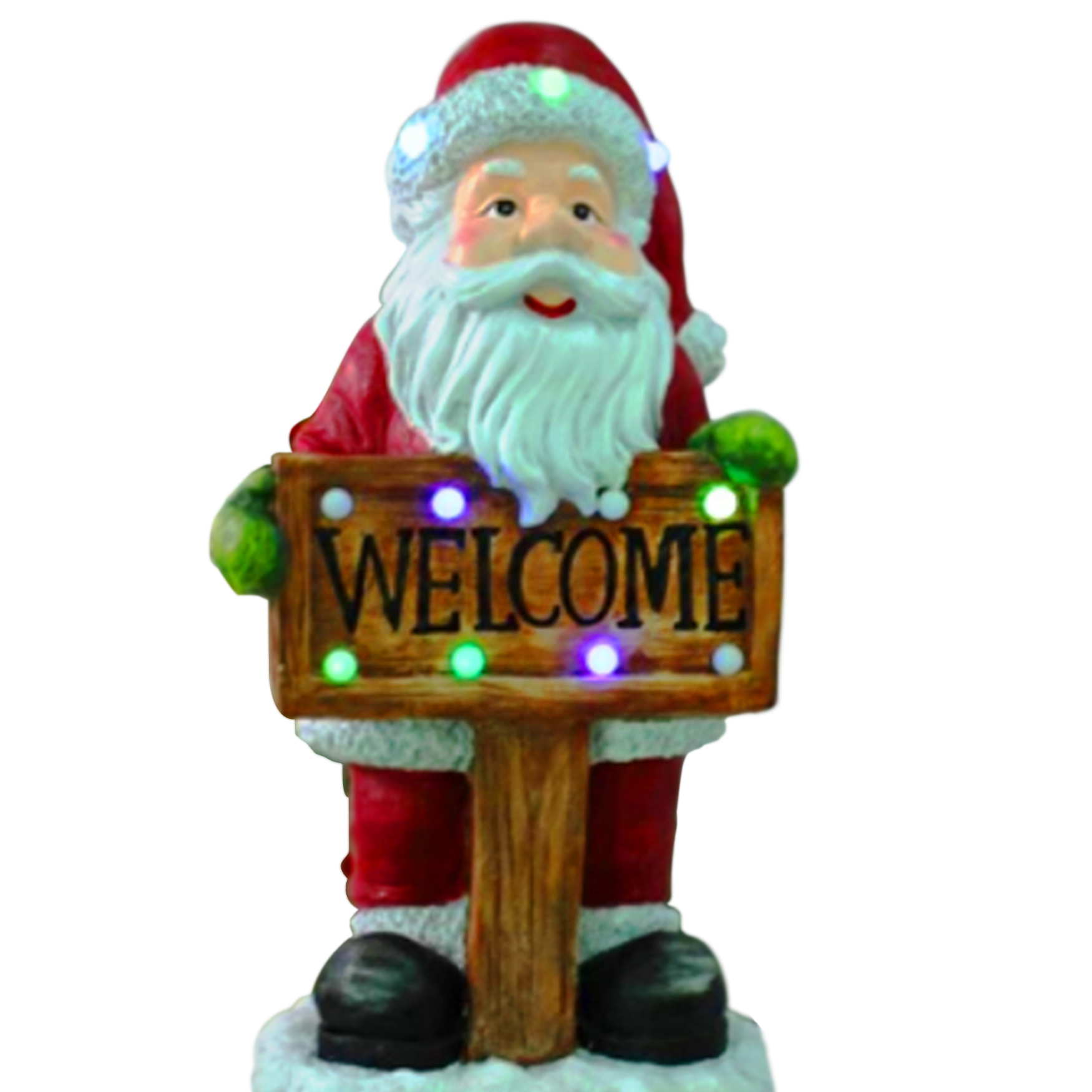 Musical Santa Welcome Sign, RED WHITE