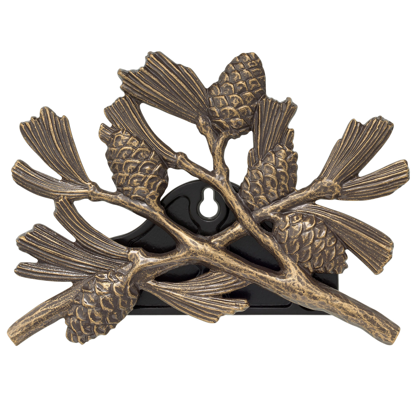 Pinecone Hose Holder, FRENCH BRONZE
